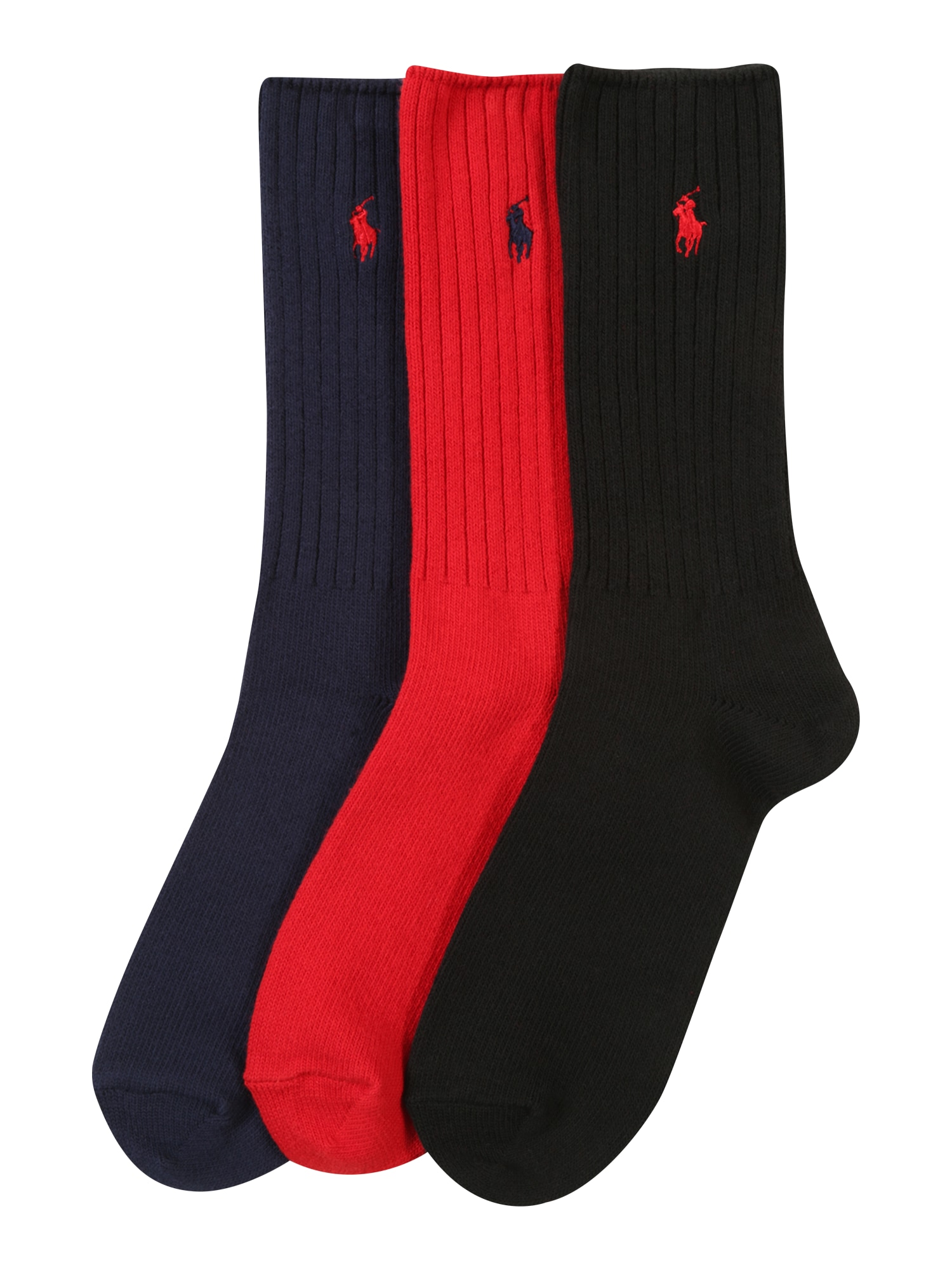 Ponožky modrá červená černá POLO RALPH LAUREN