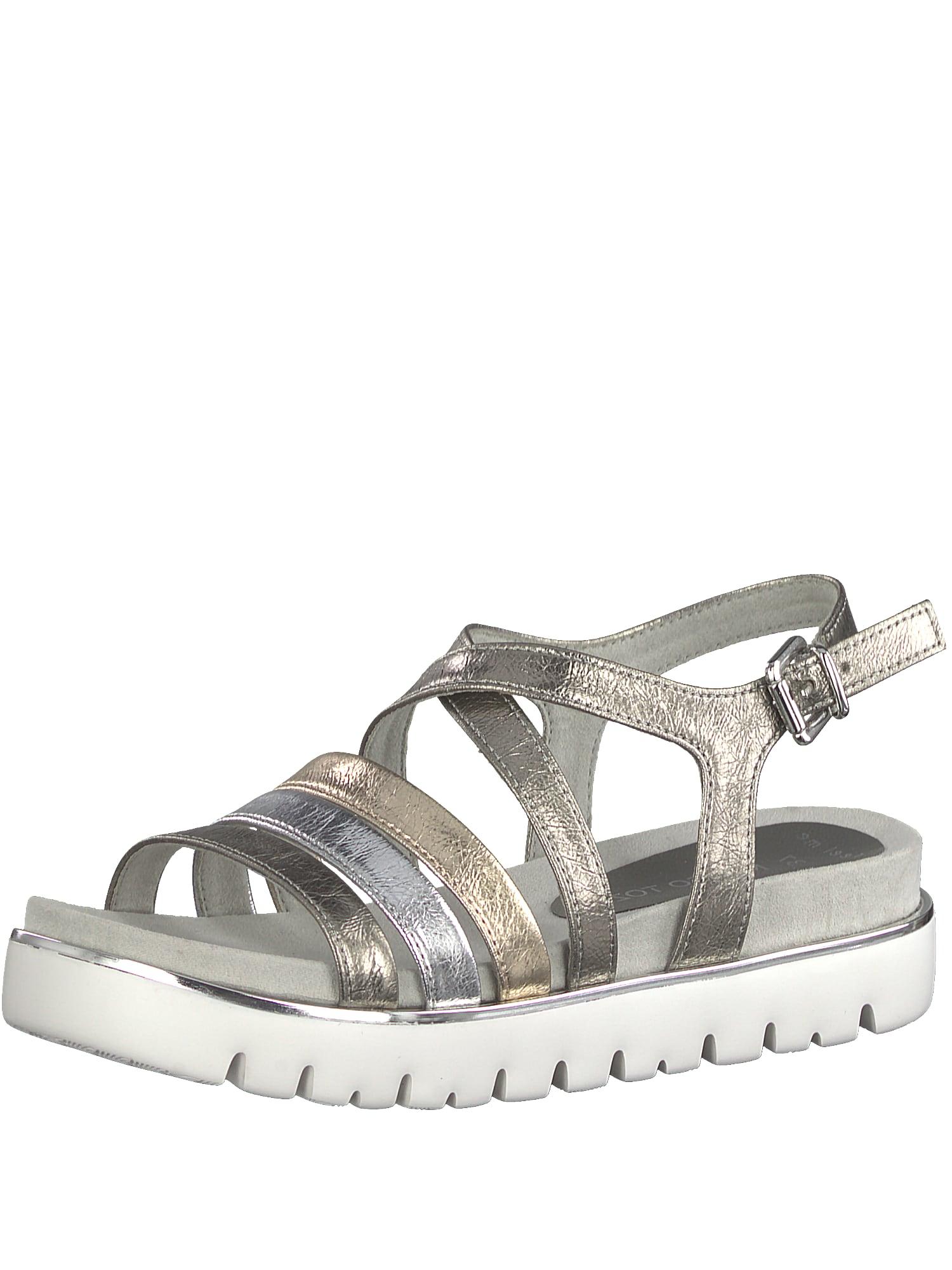 Páskové sandály zlatá šedá stříbrná bílá MARCO TOZZI