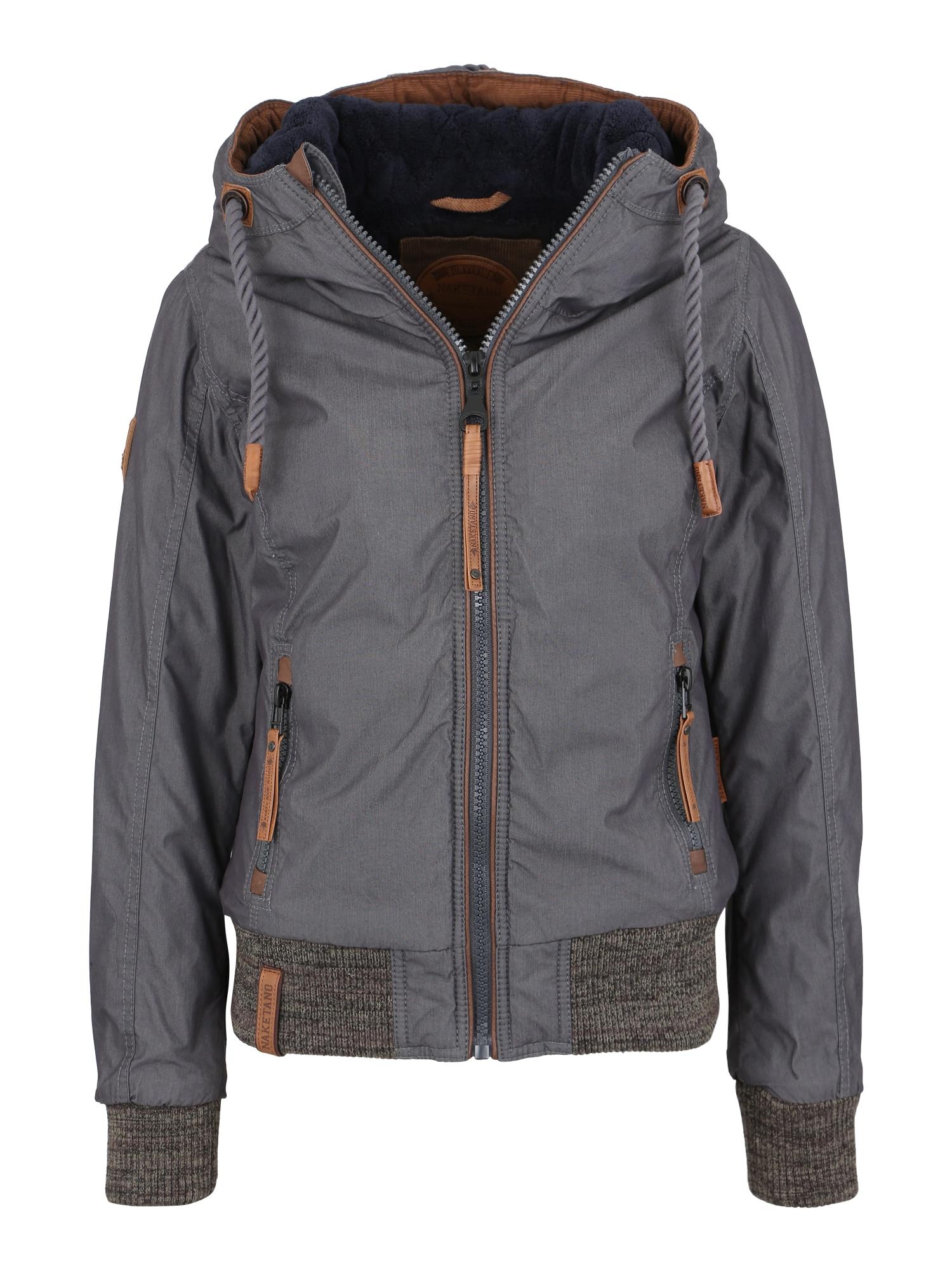 Zimní bunda Echte Lutschkultur tmavě modrá šedý melír Naketano