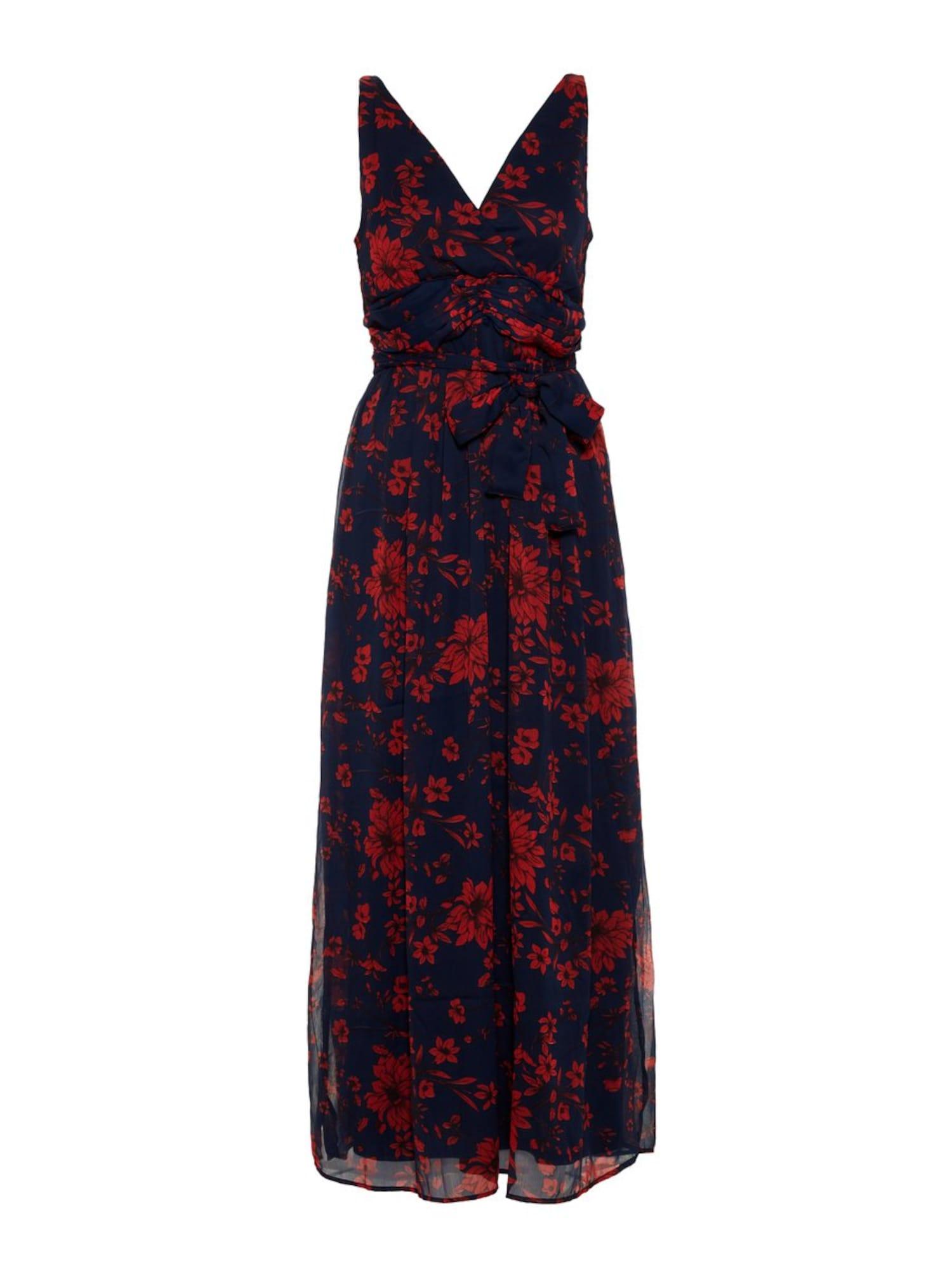 Šaty noční modrá červená VERO MODA