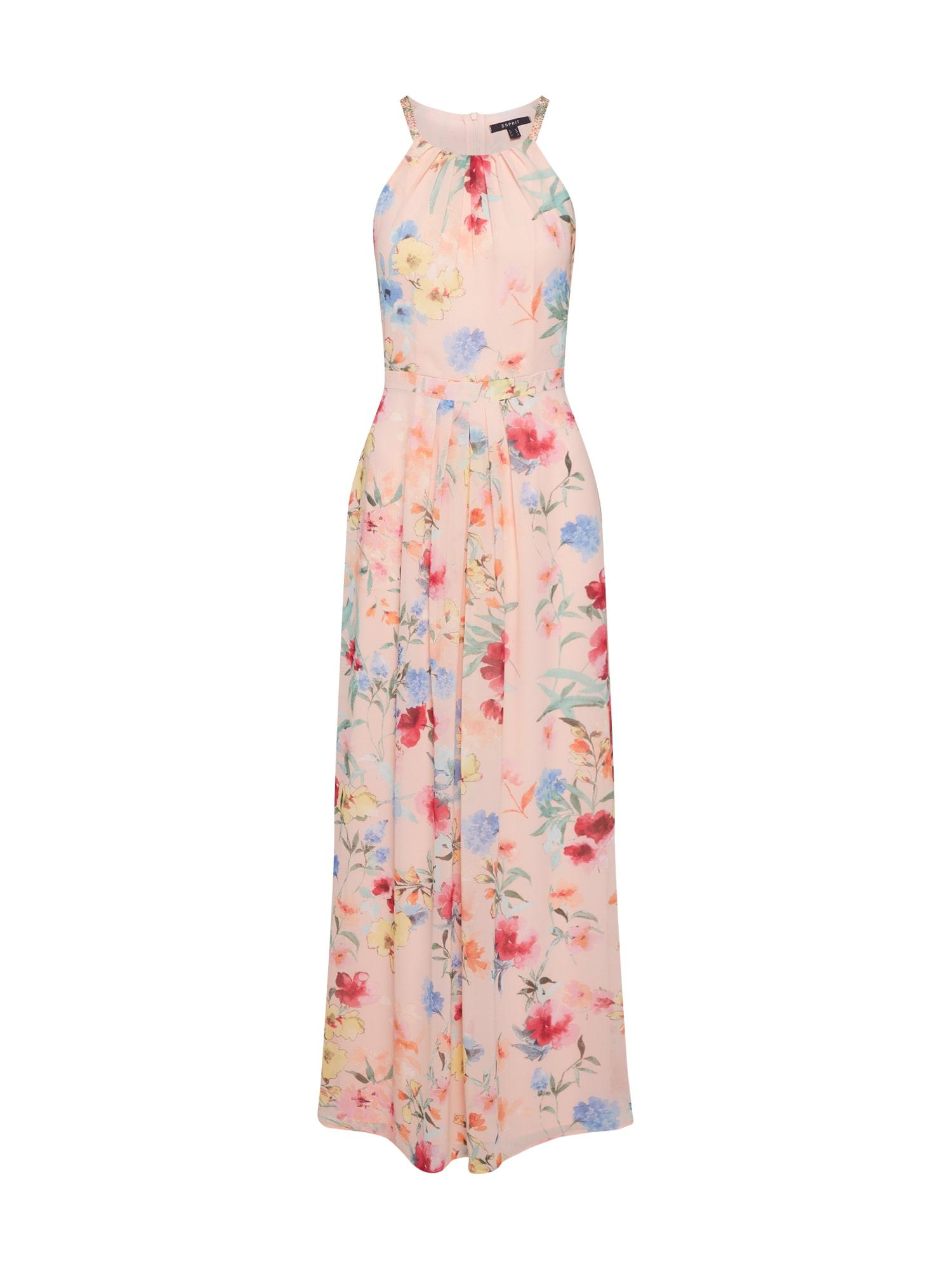 Letní šaty mix barev broskvová Esprit Collection