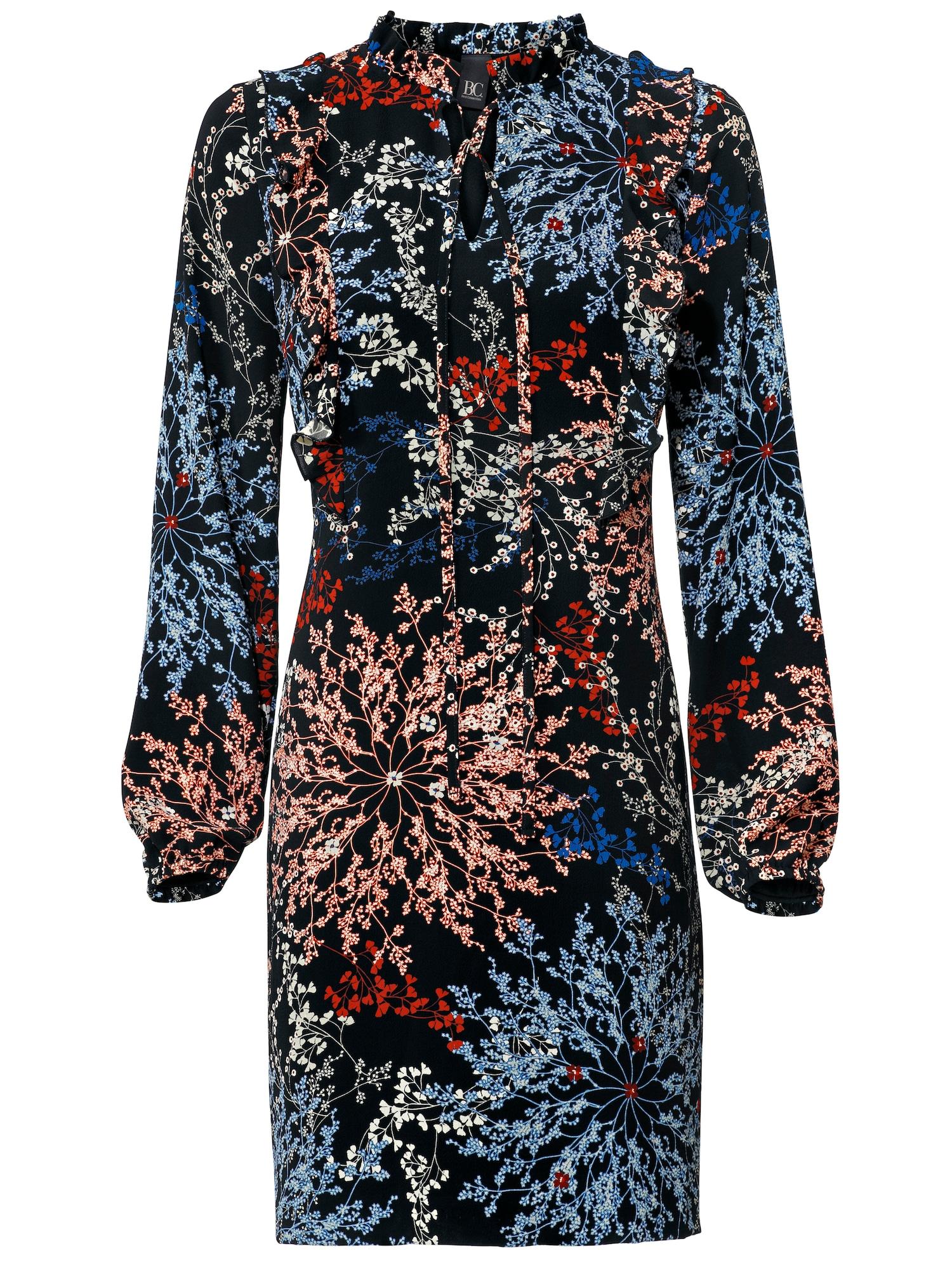 Košilové šaty mix barev černá Heine