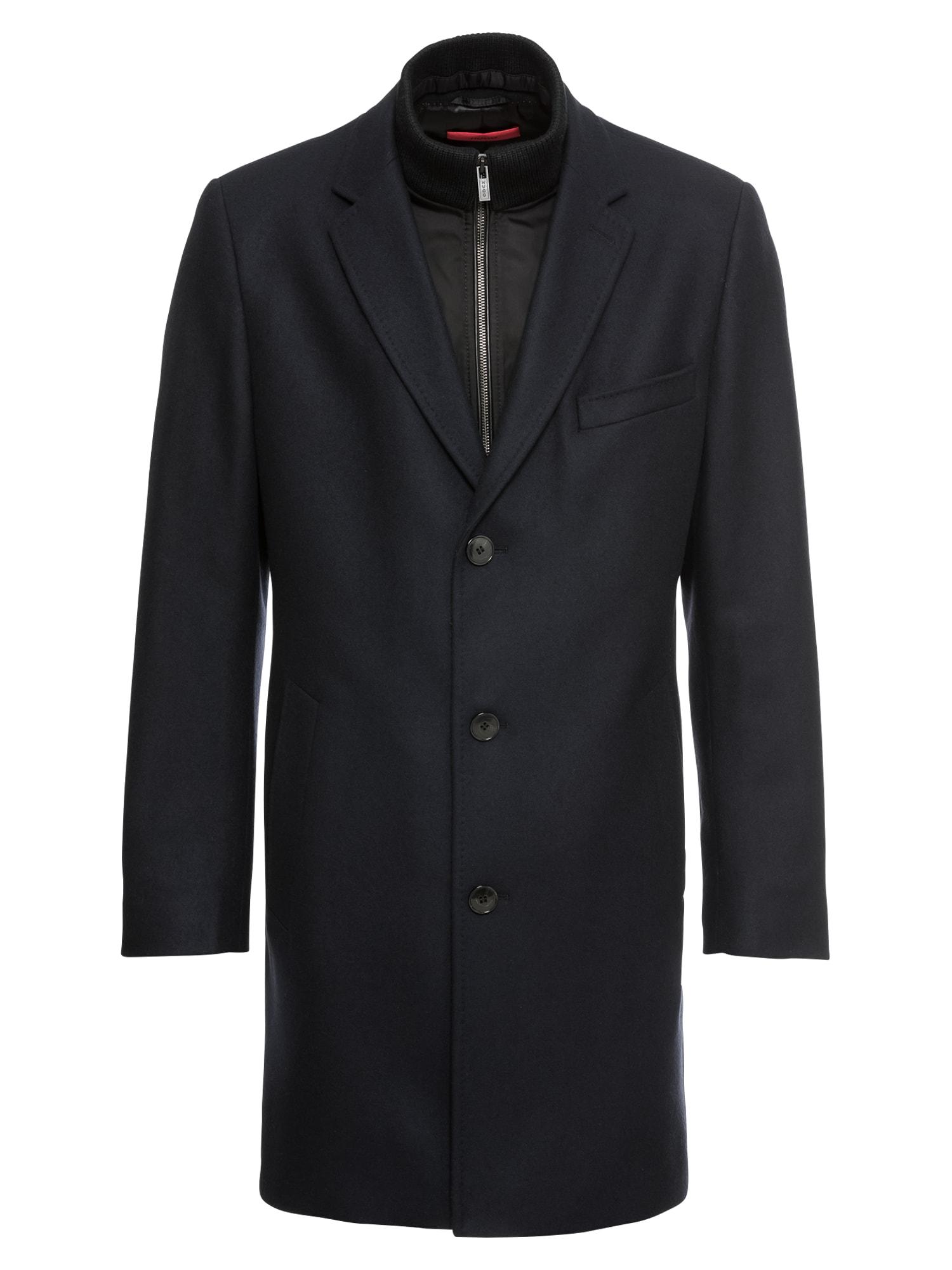 Zimní kabát Milogan1841 10186449 01 námořnická modř HUGO