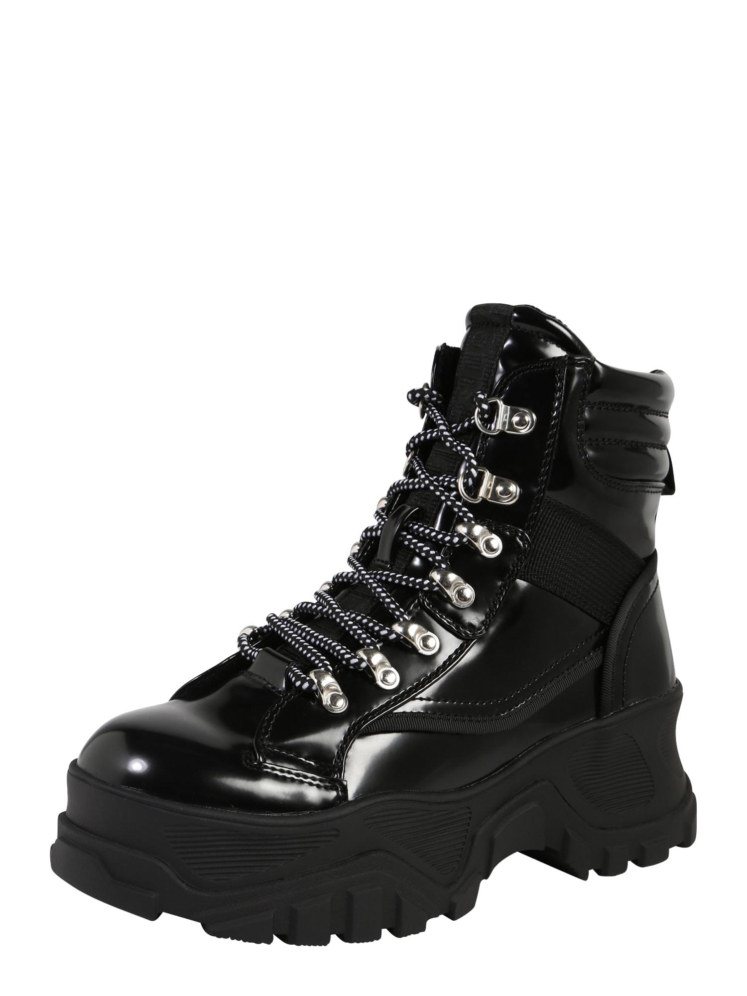 Šněrovací boty FENDO černá BUFFALO