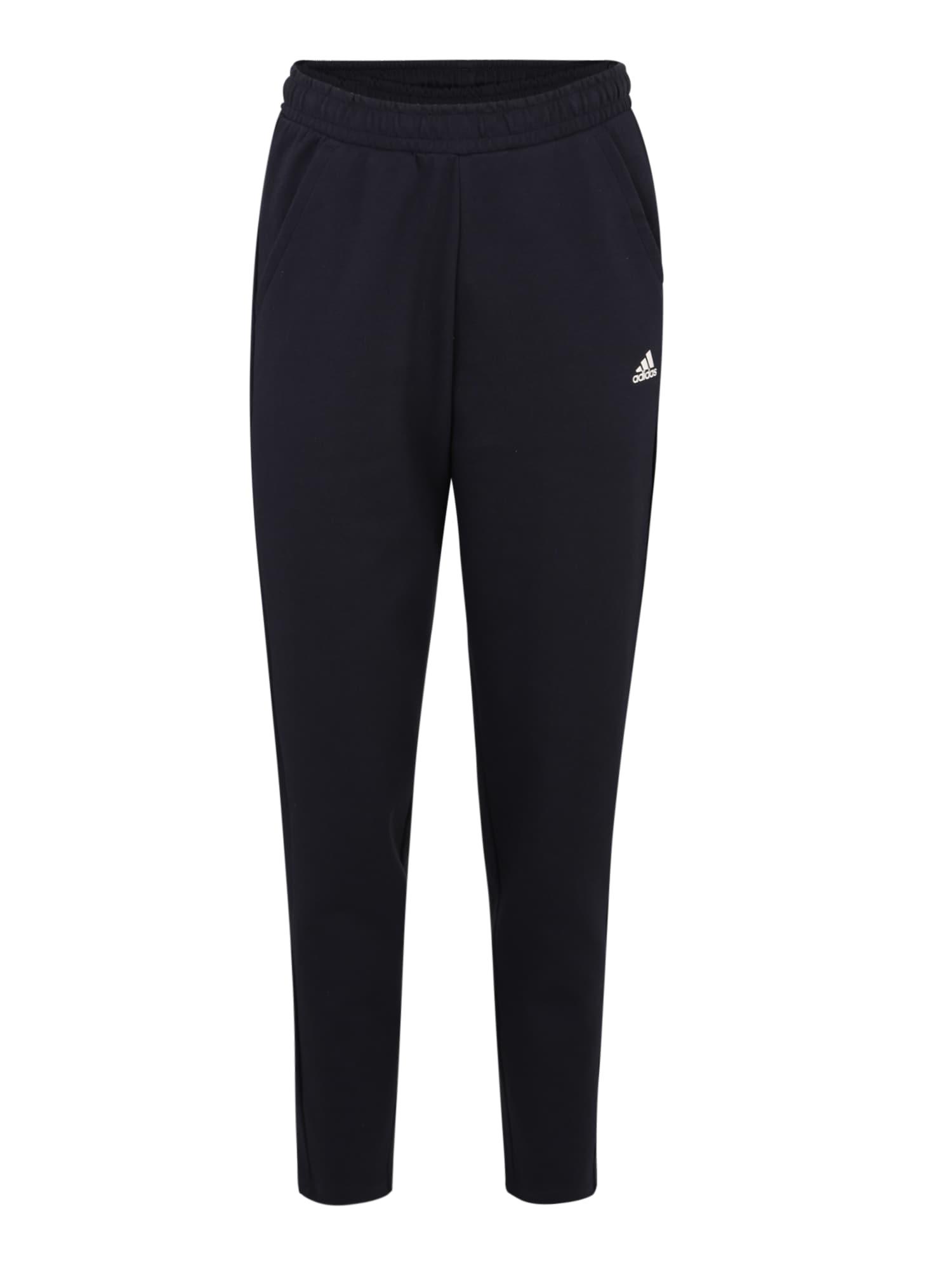 Sportovní kalhoty noční modrá bílá ADIDAS PERFORMANCE