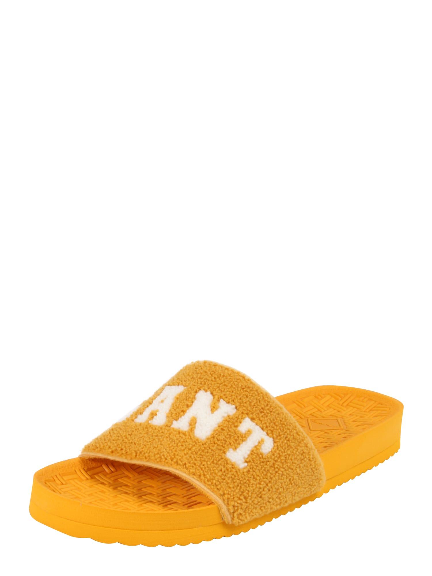 Pantofle Haley žlutá GANT