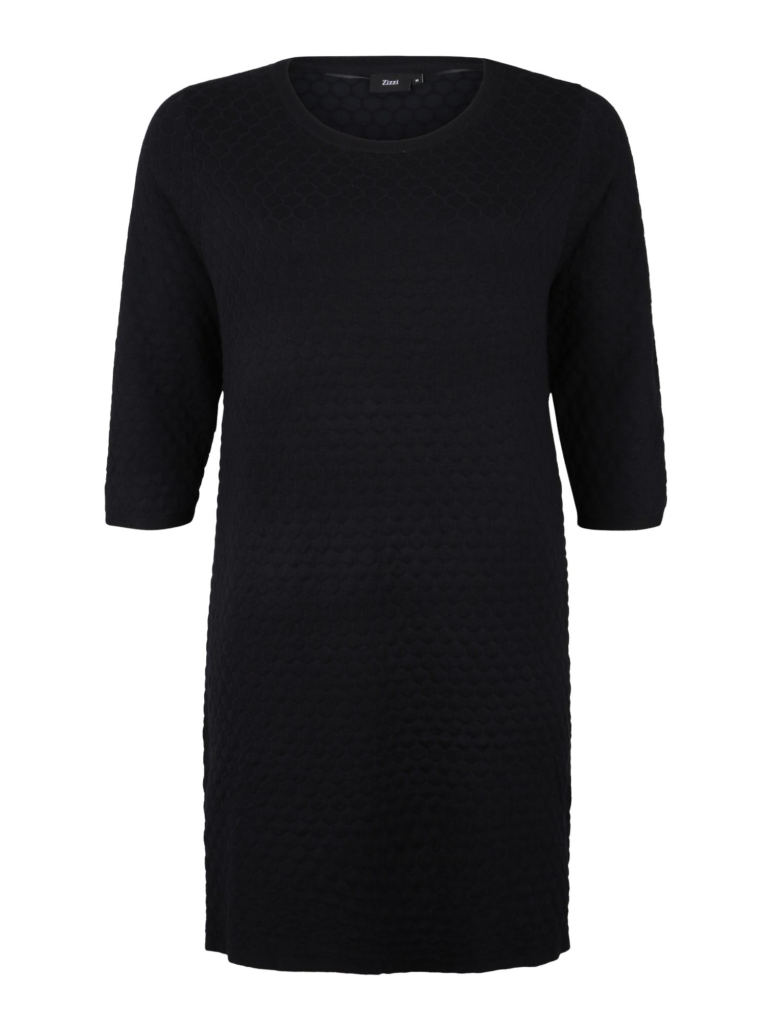 Šaty MCARRIELSDIAMOND DRESS černá Zizzi