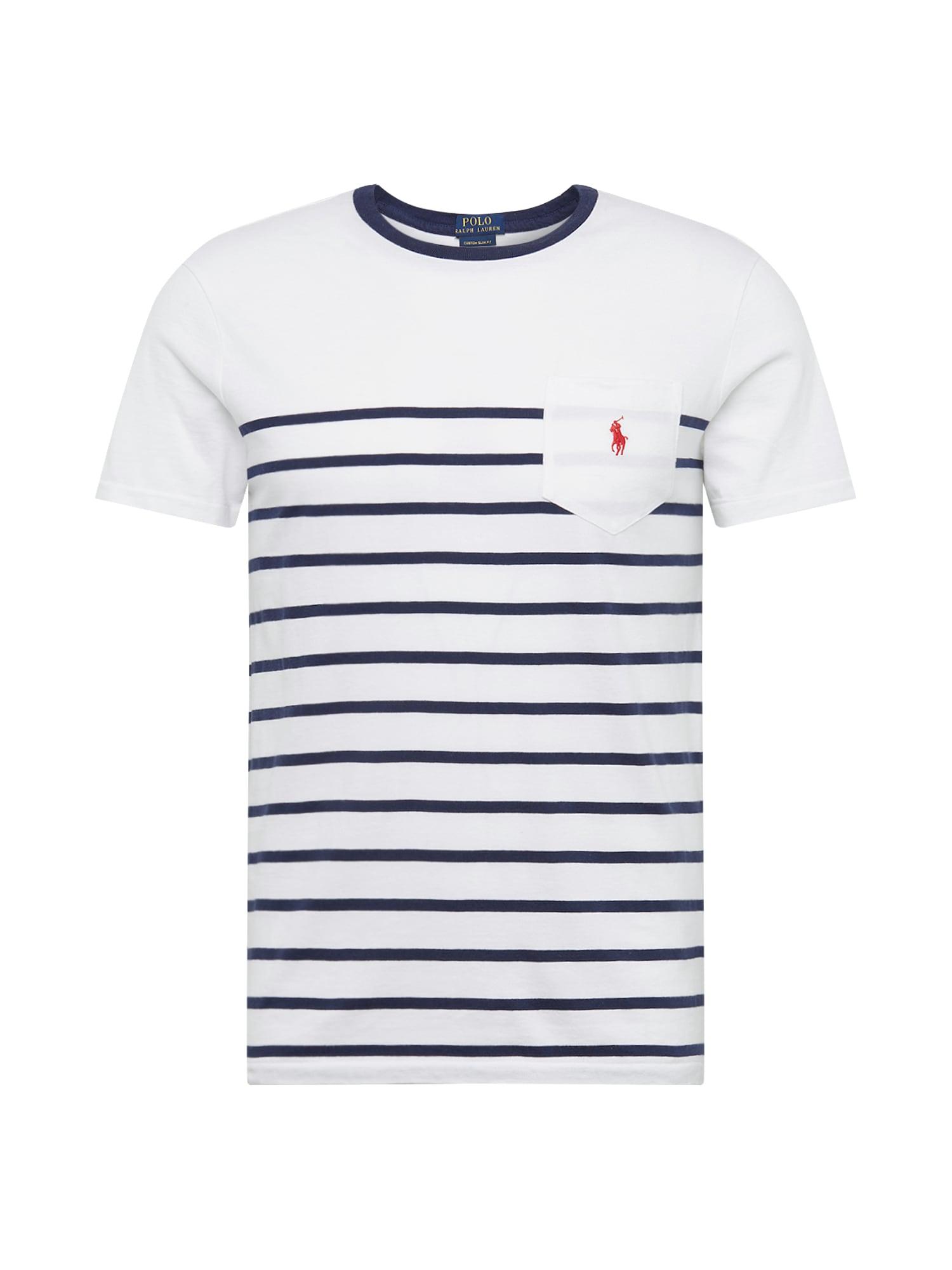 Tričko SSYDCNCMSL13-SHORT SLEEVE-T-SHIRT noční modrá bílá POLO RALPH LAUREN