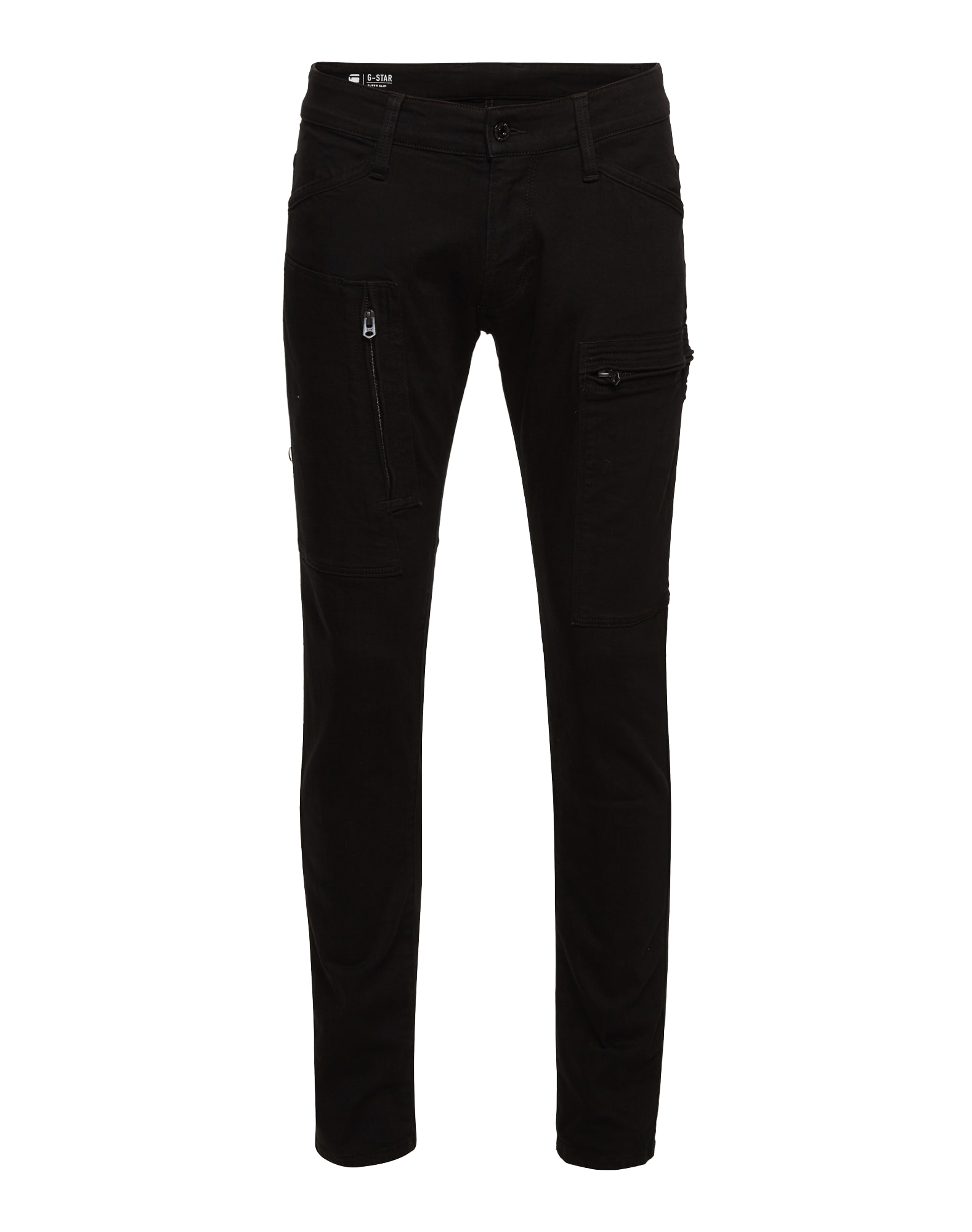 G-STAR RAW Heren Jeans Powel Super Slim Jeans black denim