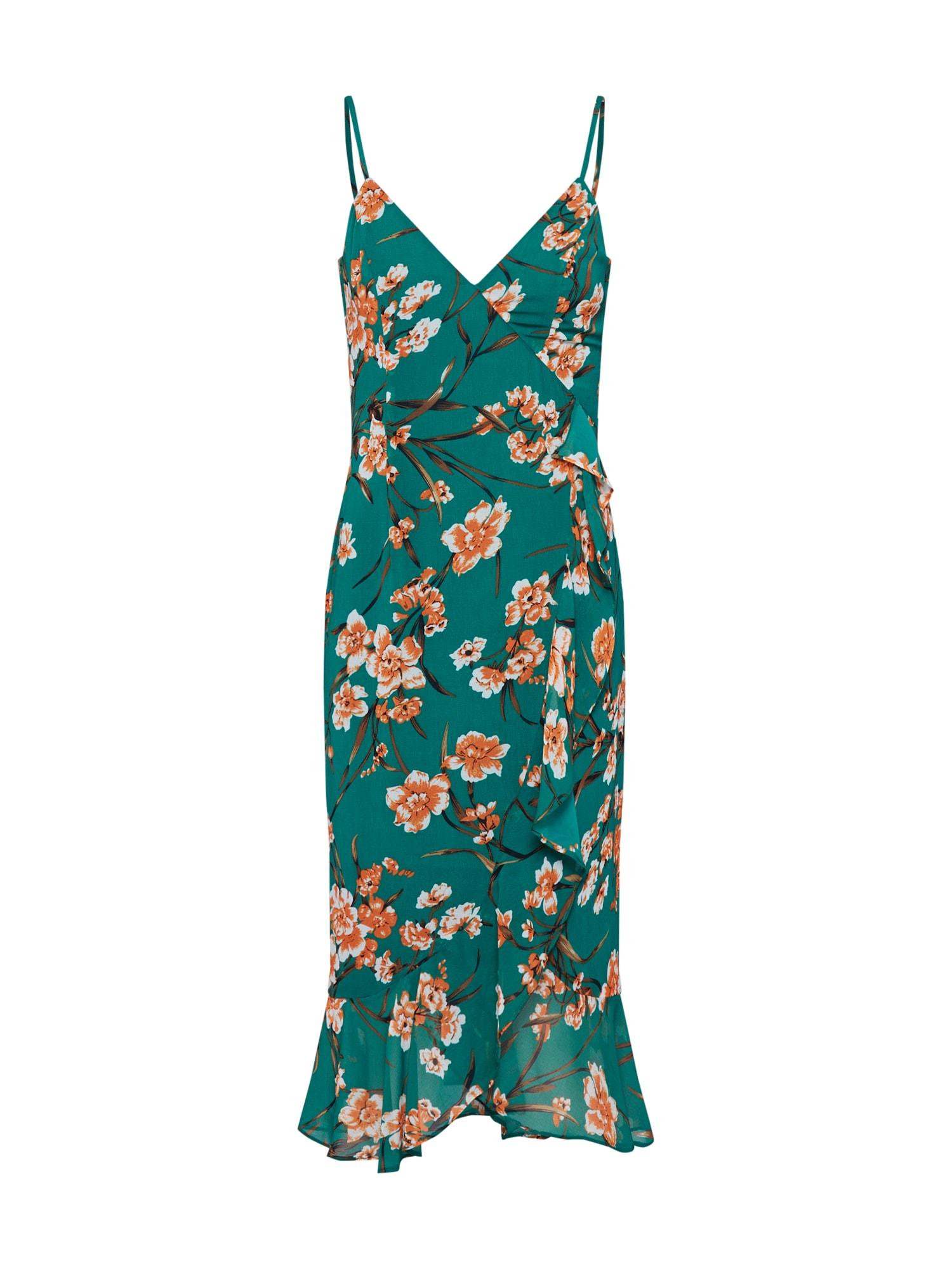 Letní šaty MALIKA FLORAL DRESS zelená Bardot
