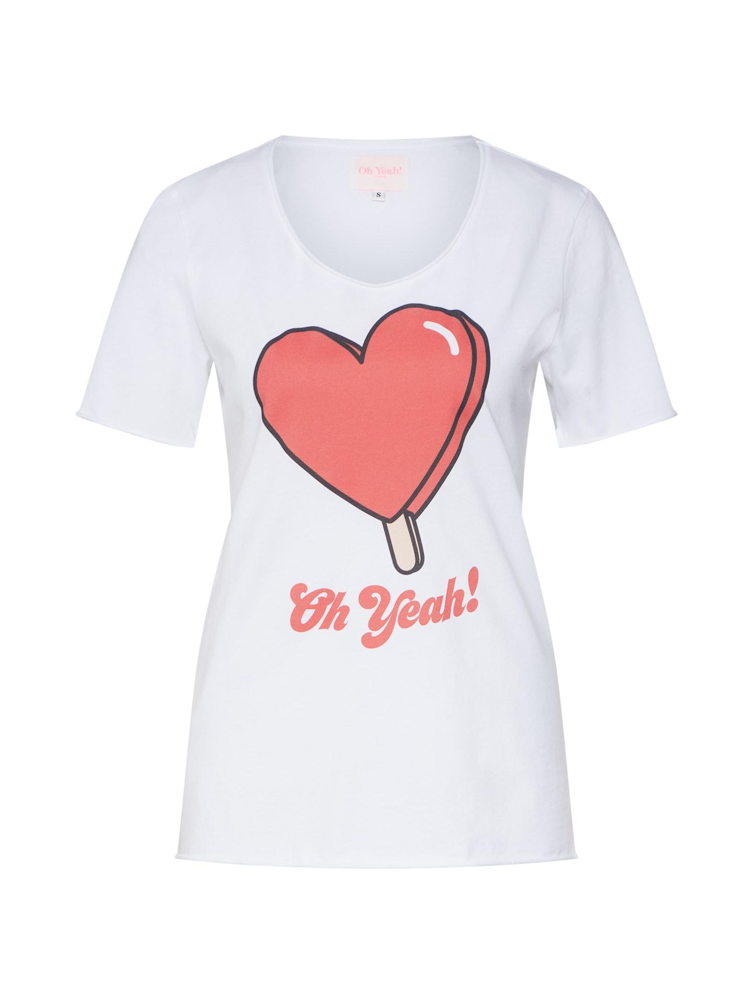Tričko ice heart bílá Oh Yeah!