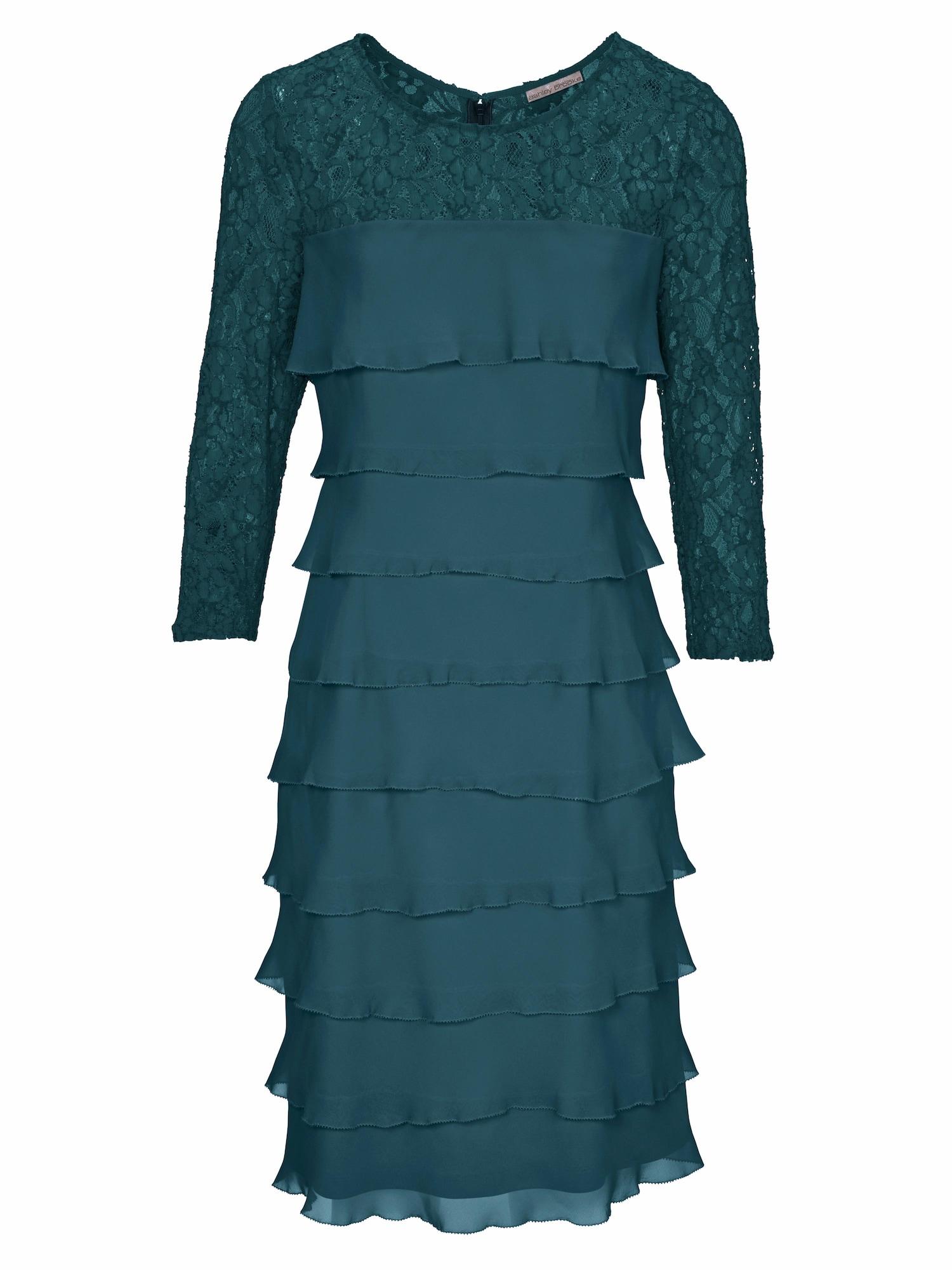Koktejlové šaty petrolejová Heine