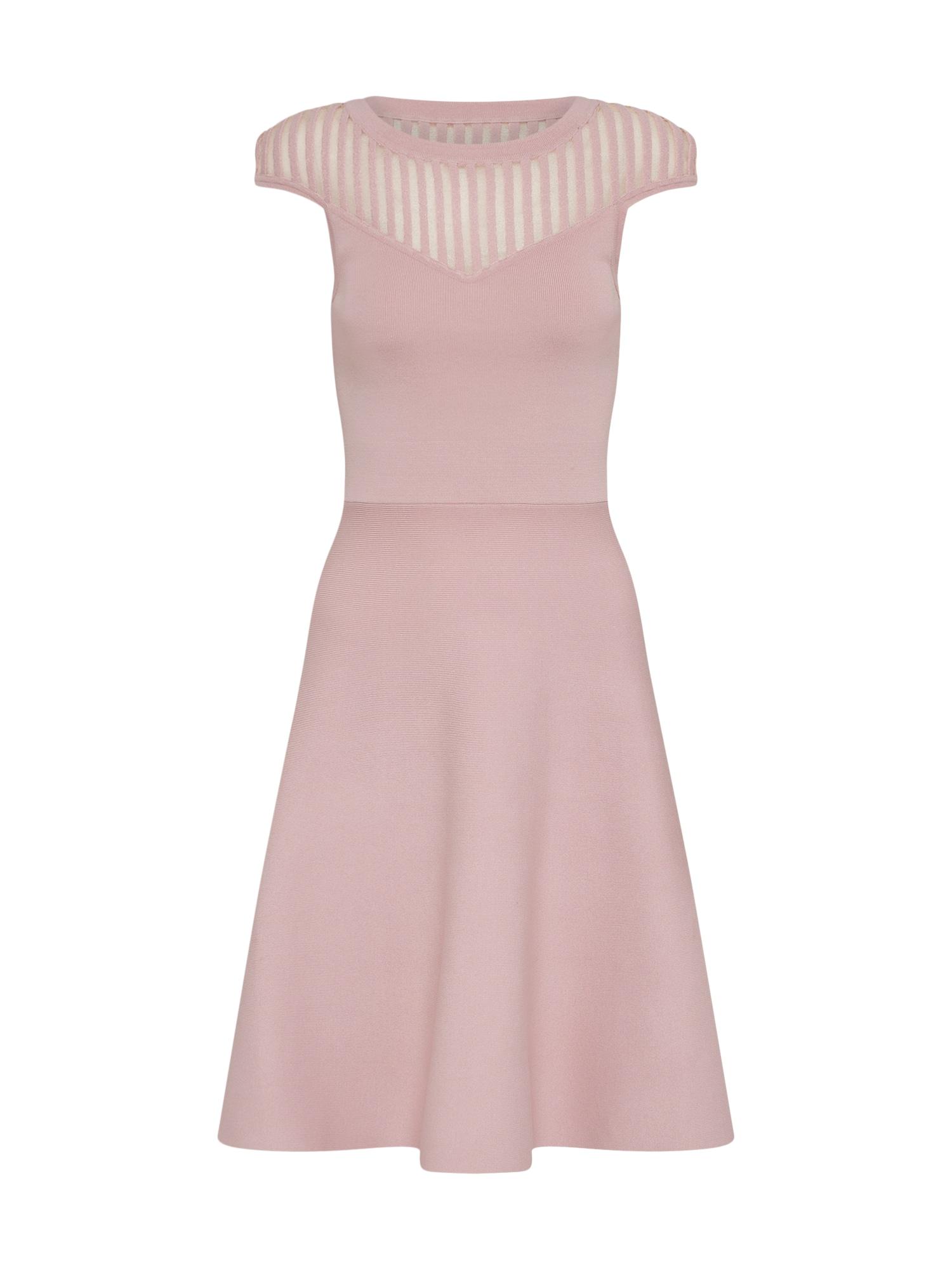 Koktejlové šaty Rose Crepe Knit starorůžová FRENCH CONNECTION