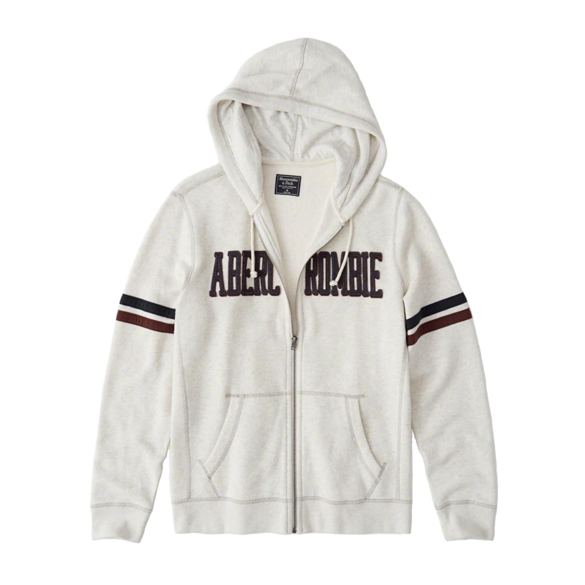 Mikina s kapucí světle šedá Abercrombie & Fitch