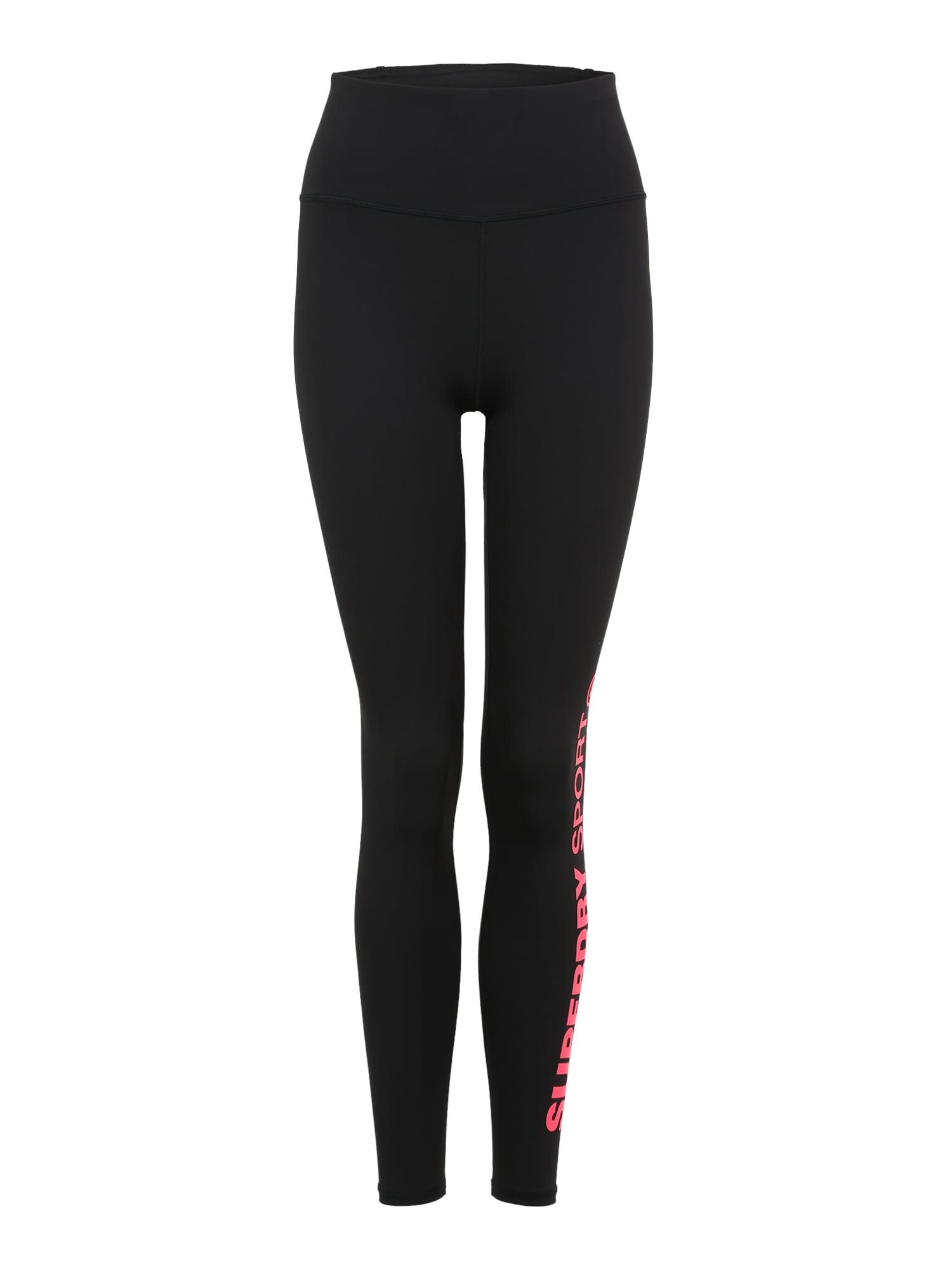 Sportovní kalhoty CORE ESSENTIAL růžová černá Superdry