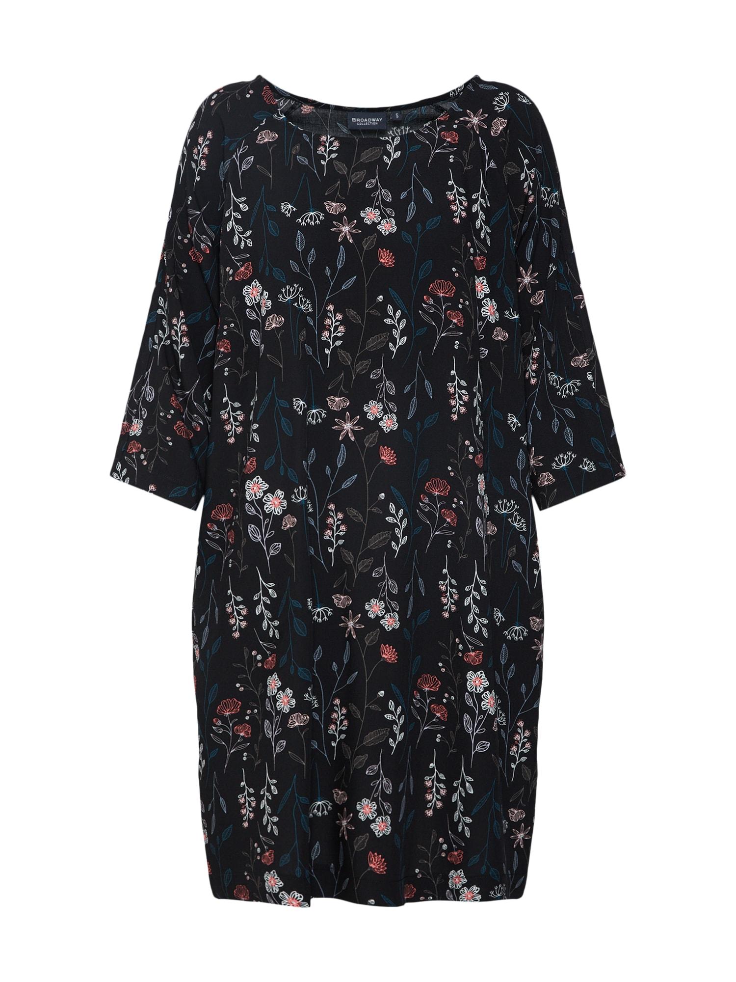 Košilové šaty Oona světlemodrá růžová černá BROADWAY NYC FASHION