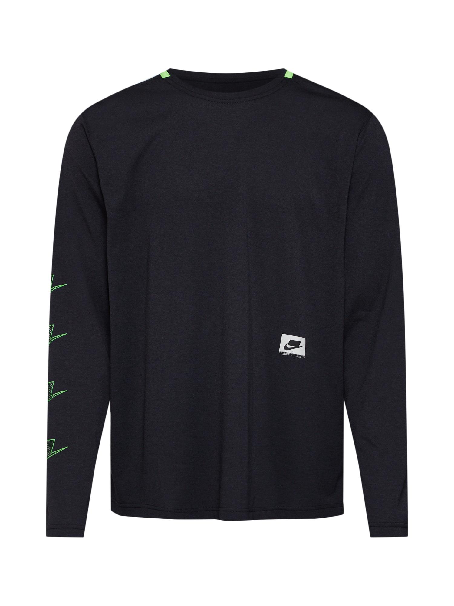 NIKE Funkční tričko 'M NK DRY TOP LS PX'  černá