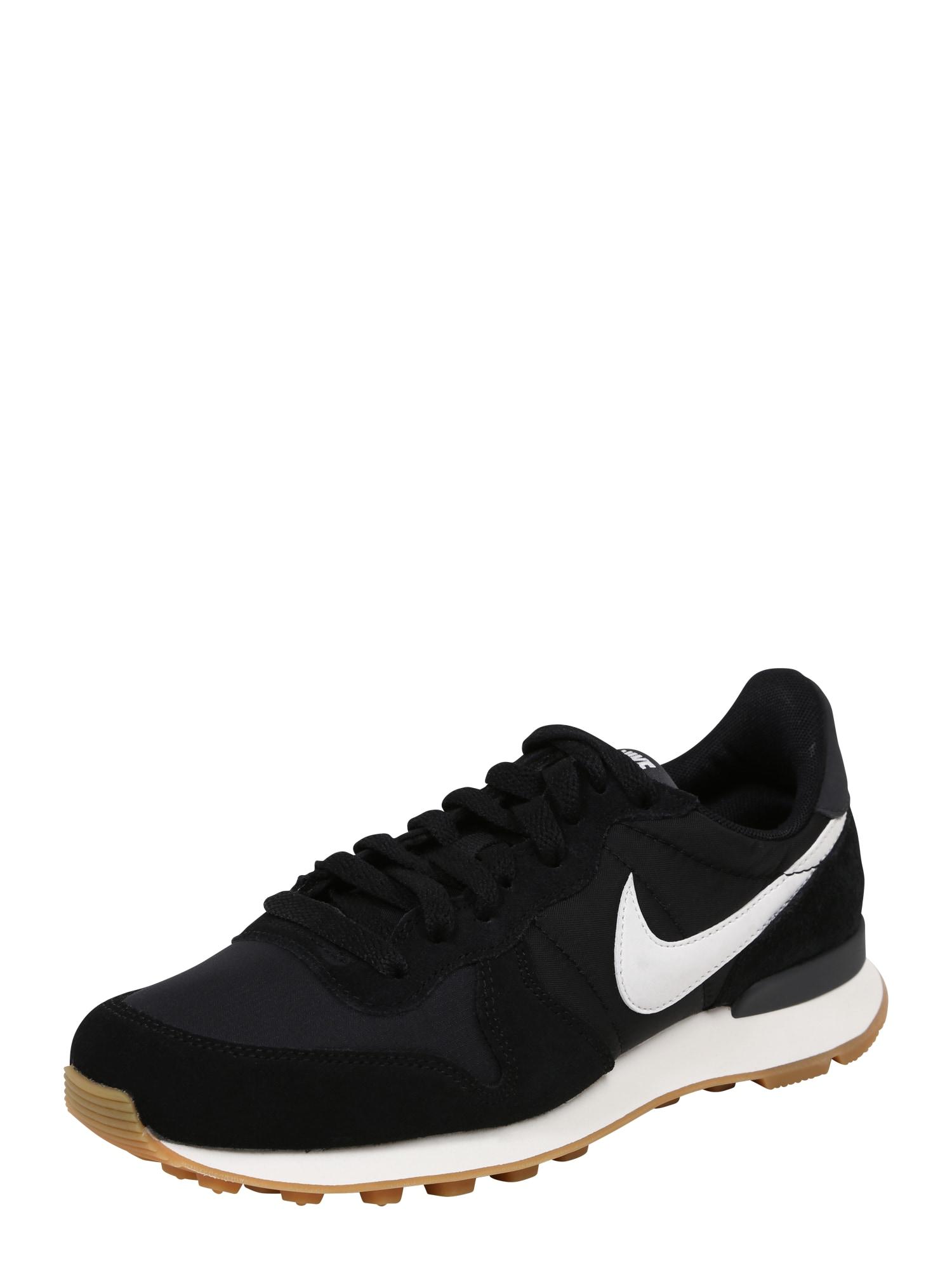 Nike Sportswear, Dames Sneakers laag 'Internationalist', zwart / wit