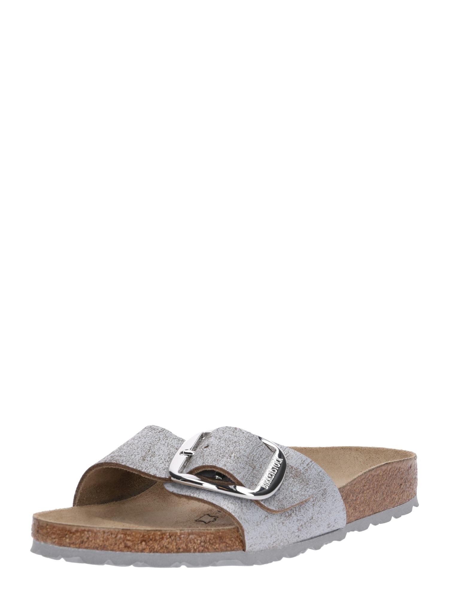 Pantofle Madrid stříbrně šedá BIRKENSTOCK