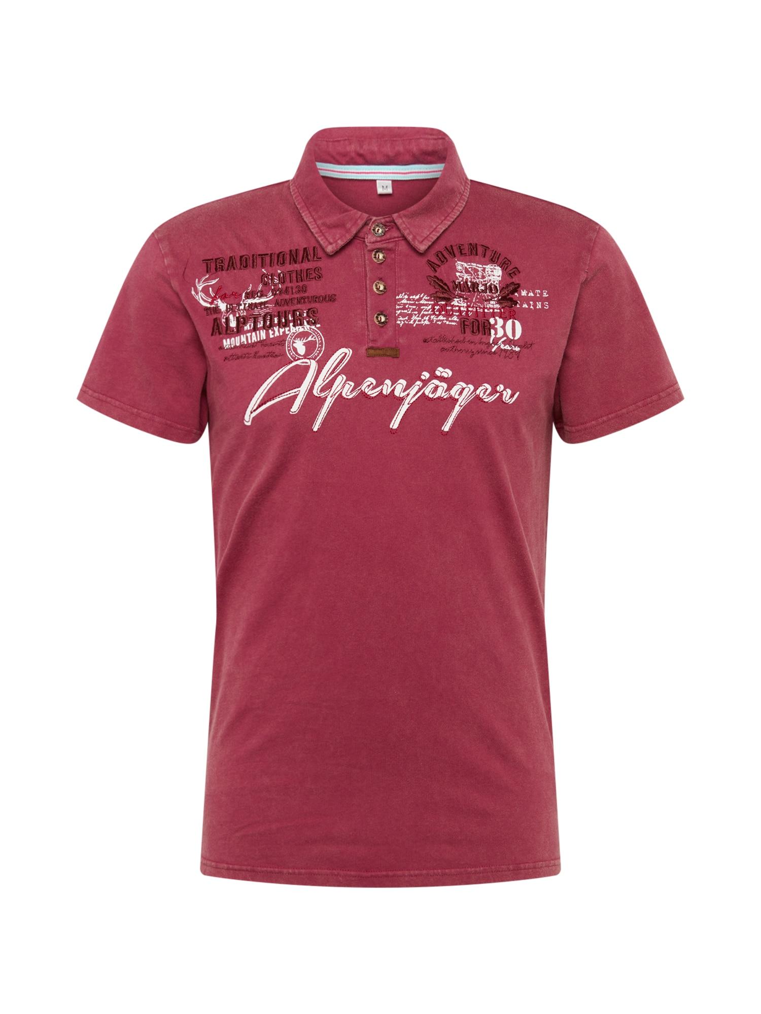Krojové tričko E09 Alpenjäger bordó MARJO