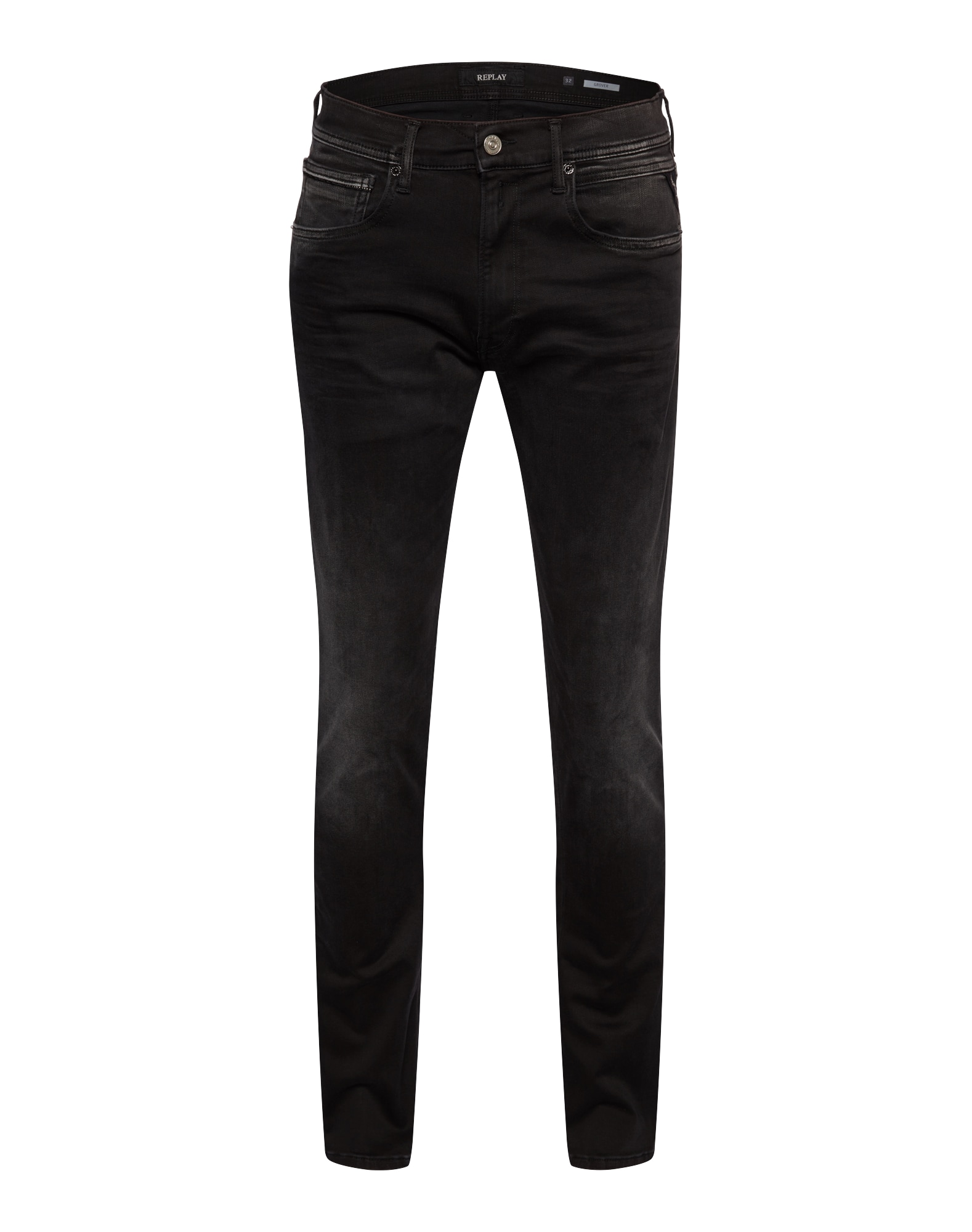 REPLAY Heren Jeans GROVER black denim