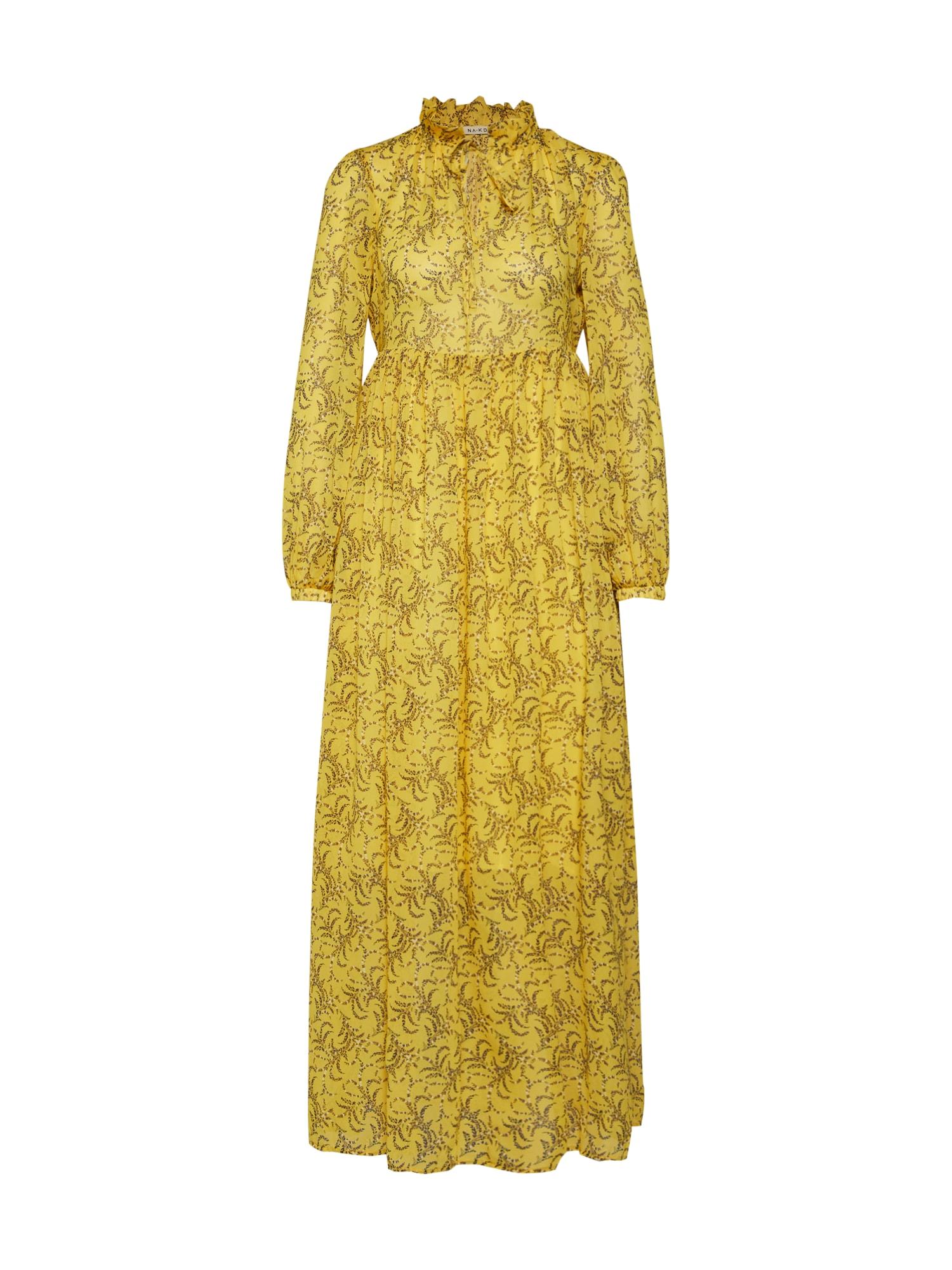 Letní šaty žlutá NA-KD