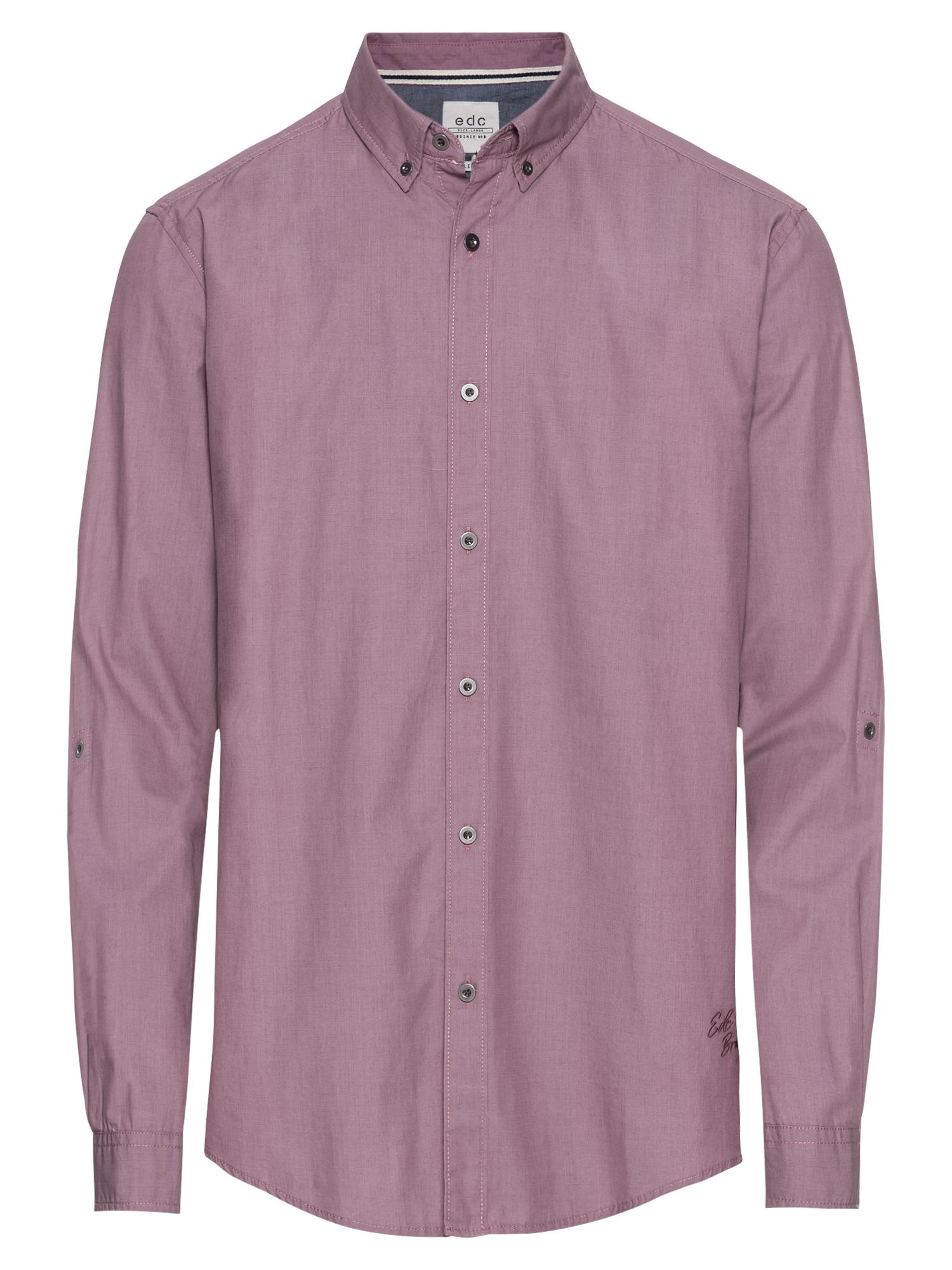 Košile blotched chambr starorůžová EDC BY ESPRIT