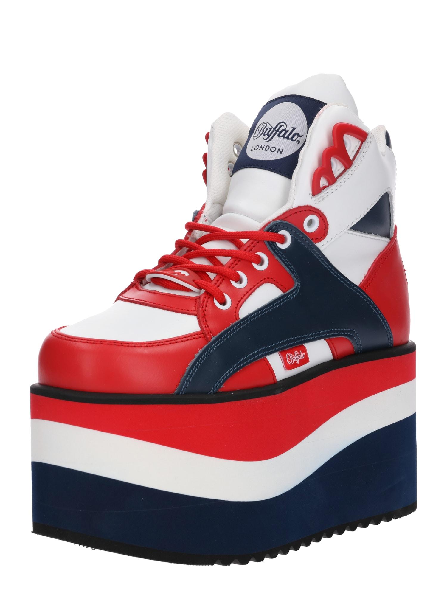 Buffalo London Nízke tenisky  námornícka modrá / červené / biela