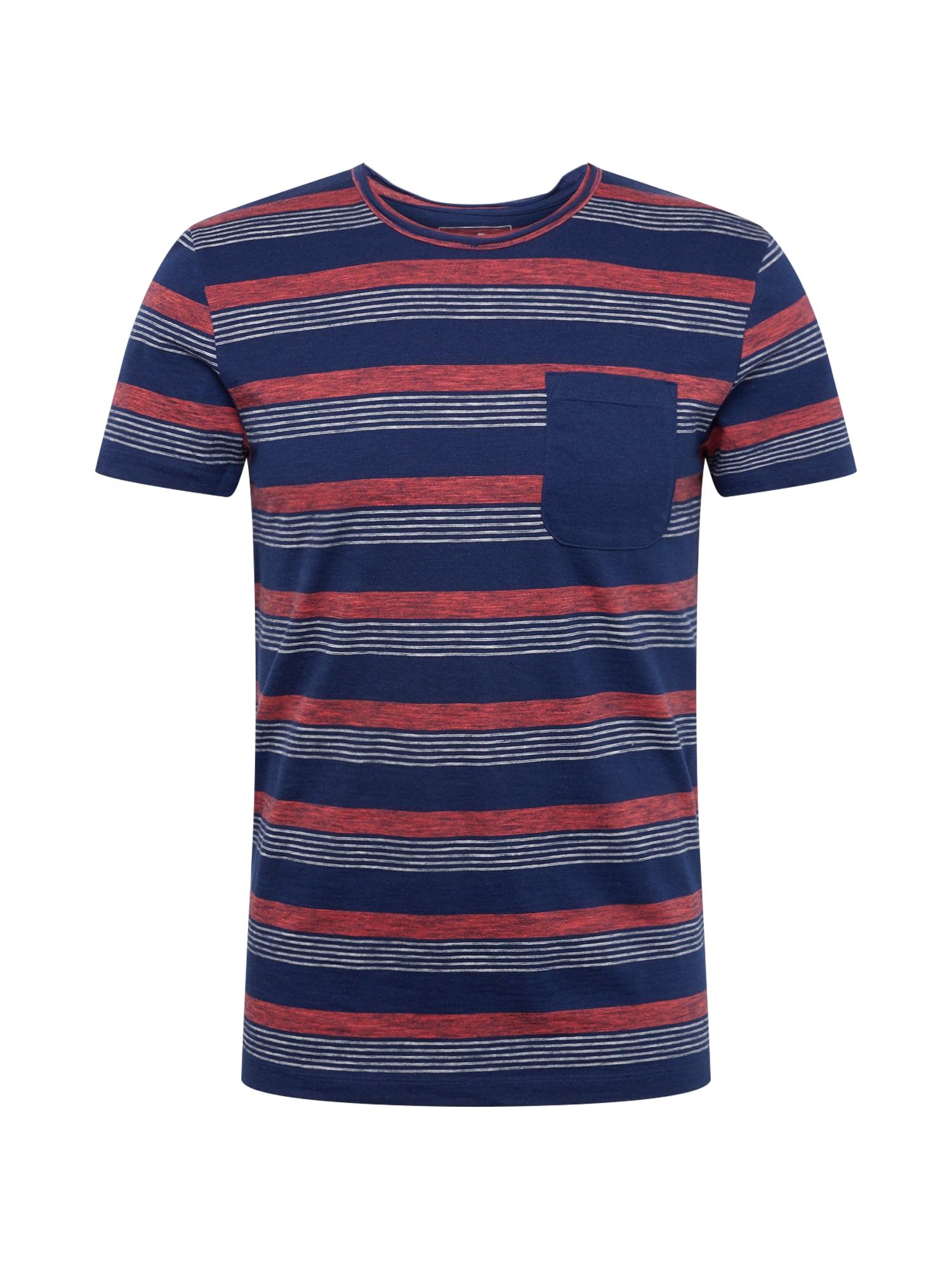 Tričko námořnická modř světle červená TOM TAILOR DENIM