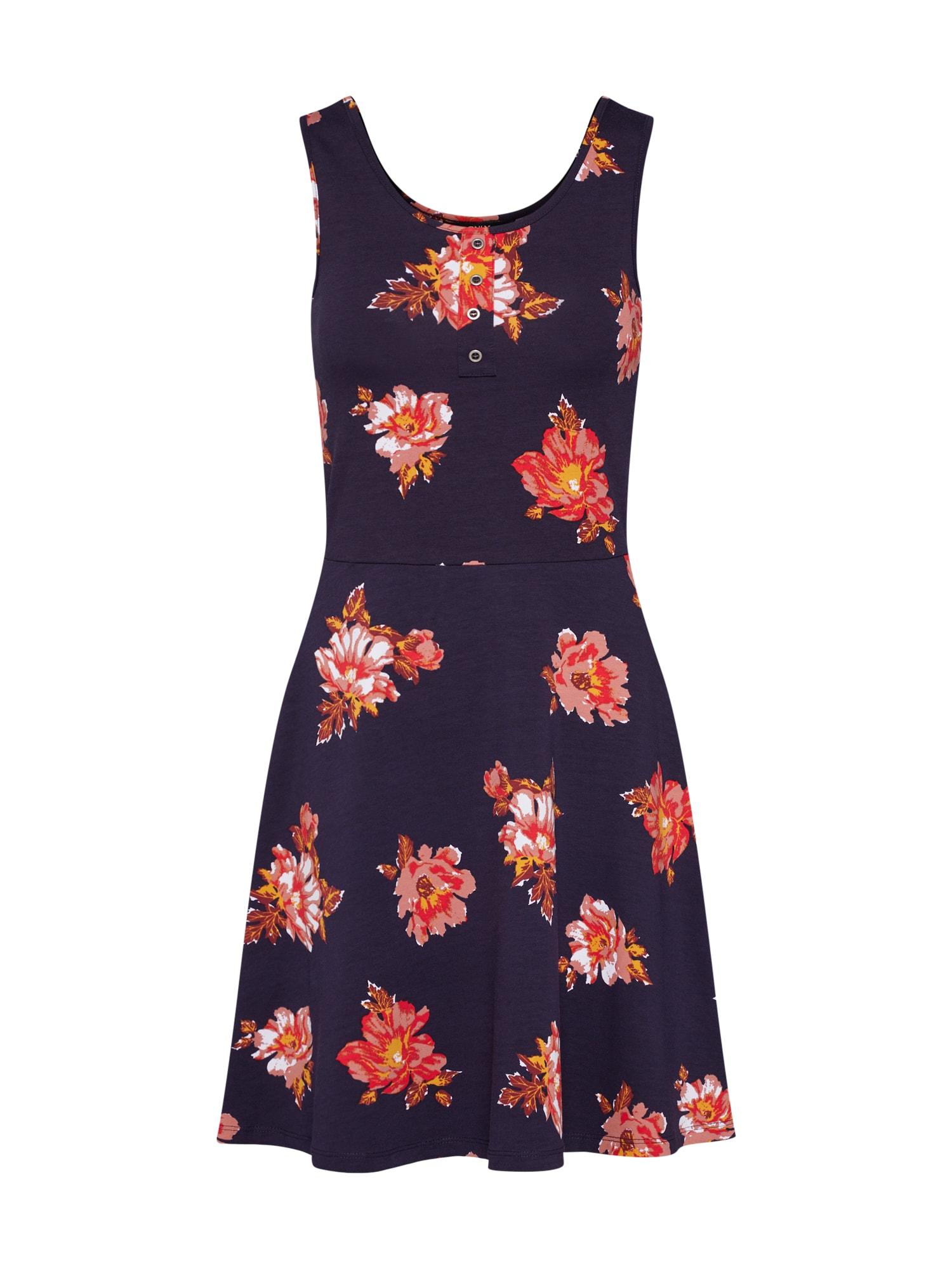 Letní šaty NIELLA noční modrá červená ONLY