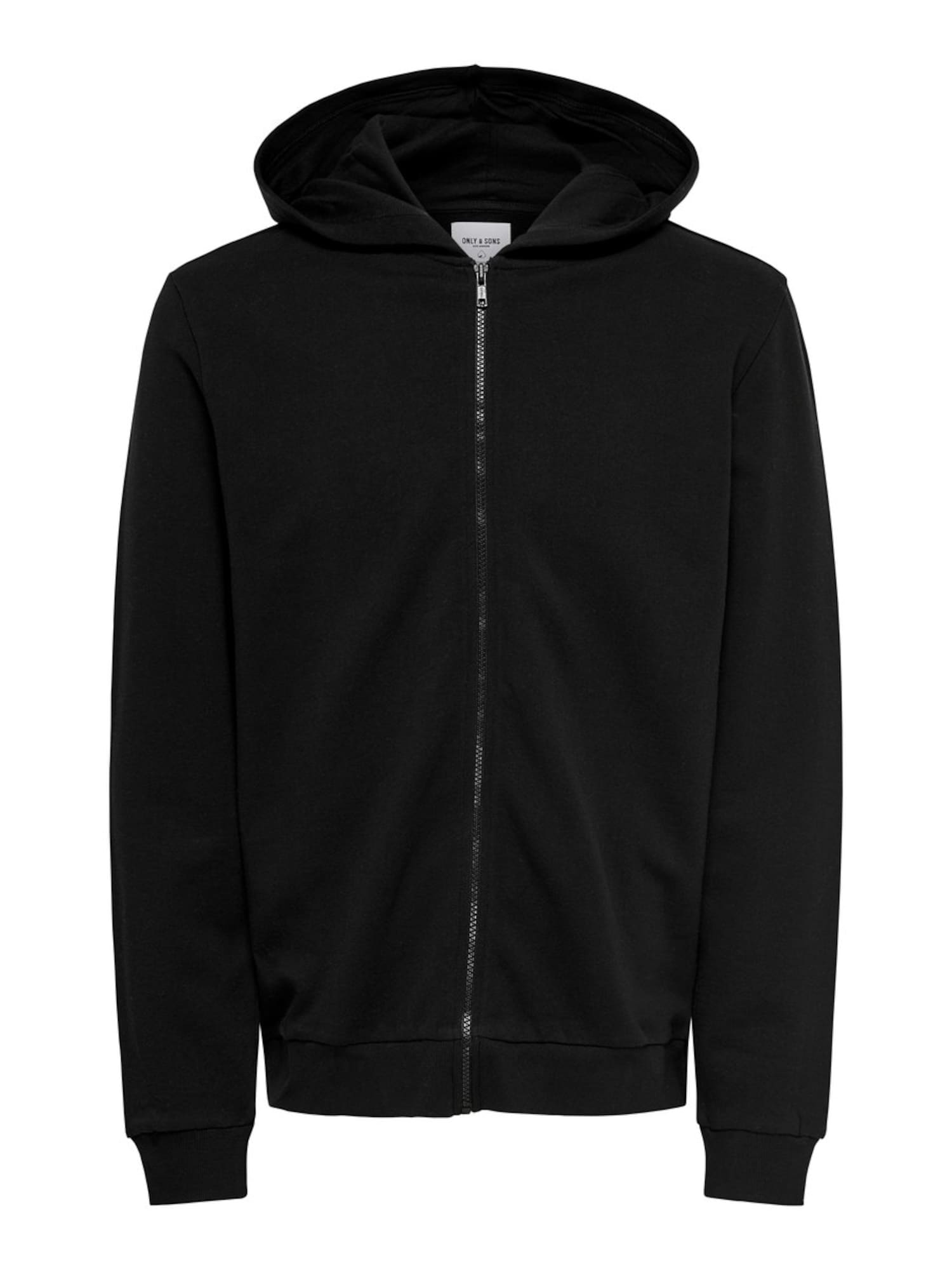 Only & Sons Mikina s kapucí  černá