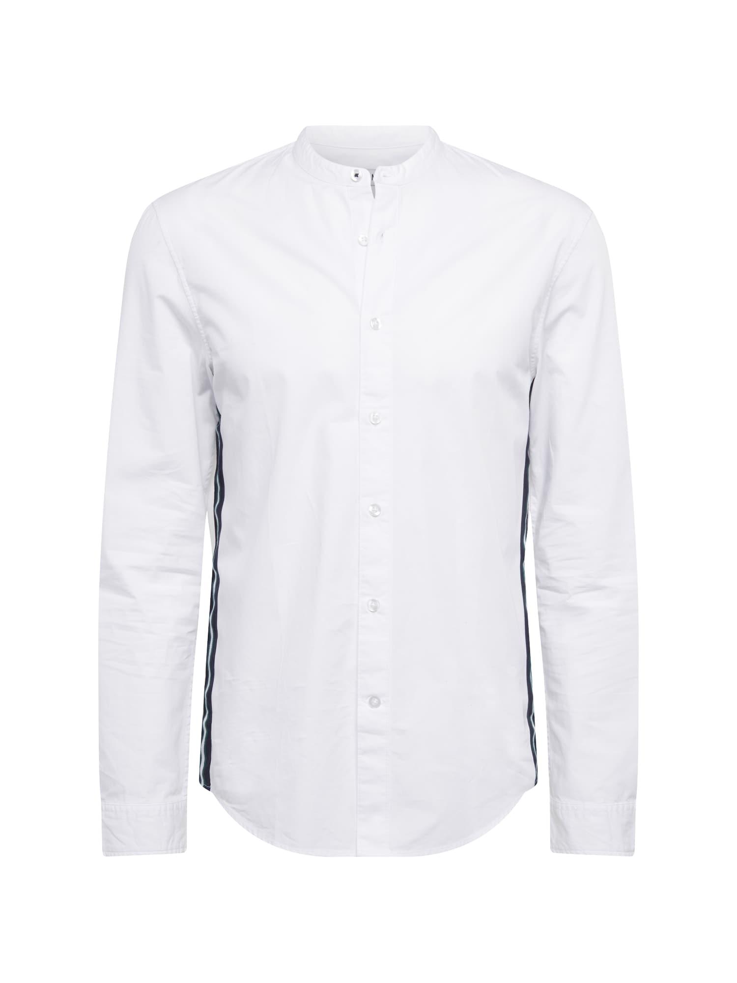 Košile Placket Tape Shirt černá bílá KIOMI