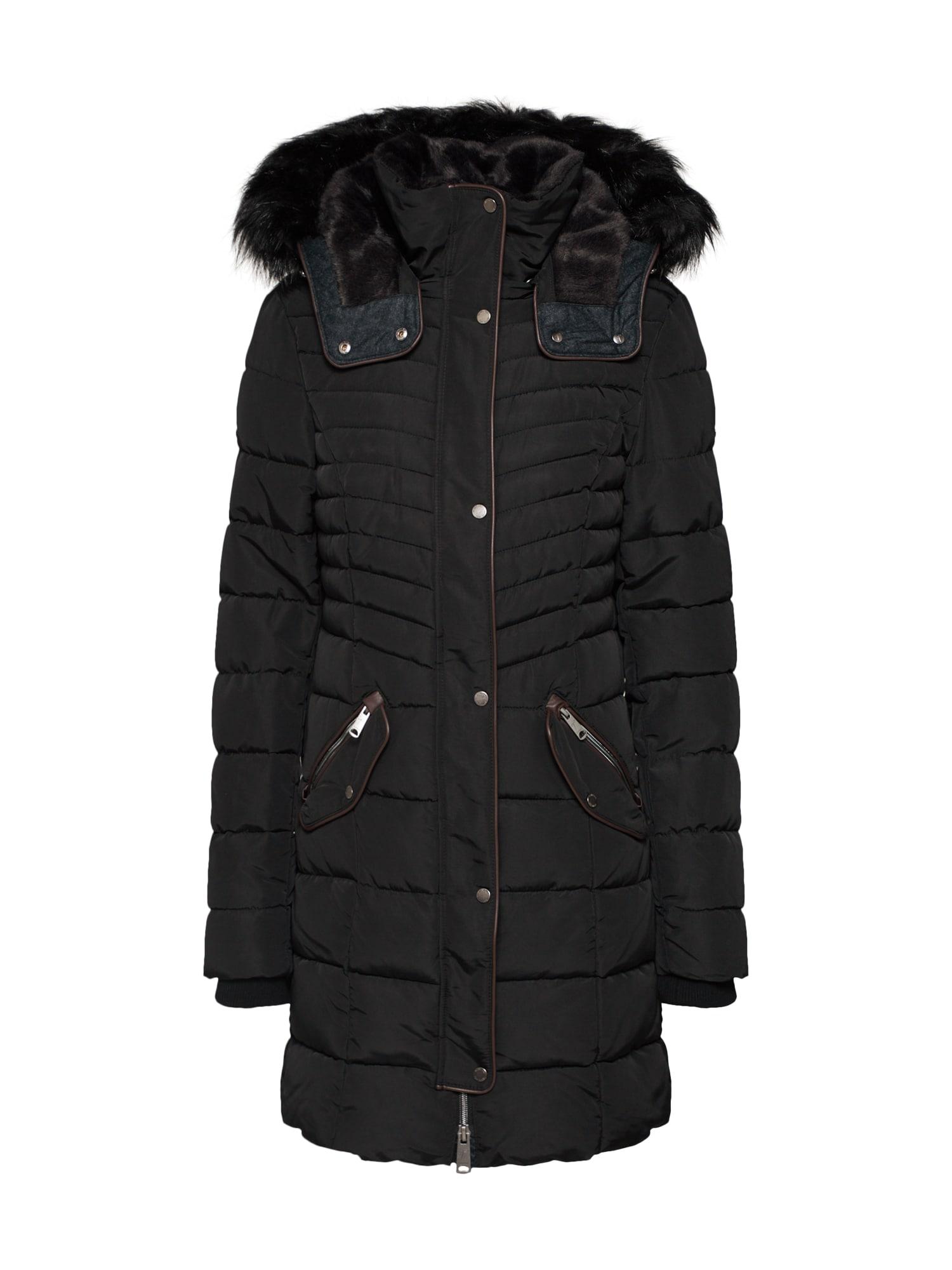 Zimní kabát černá TOM TAILOR