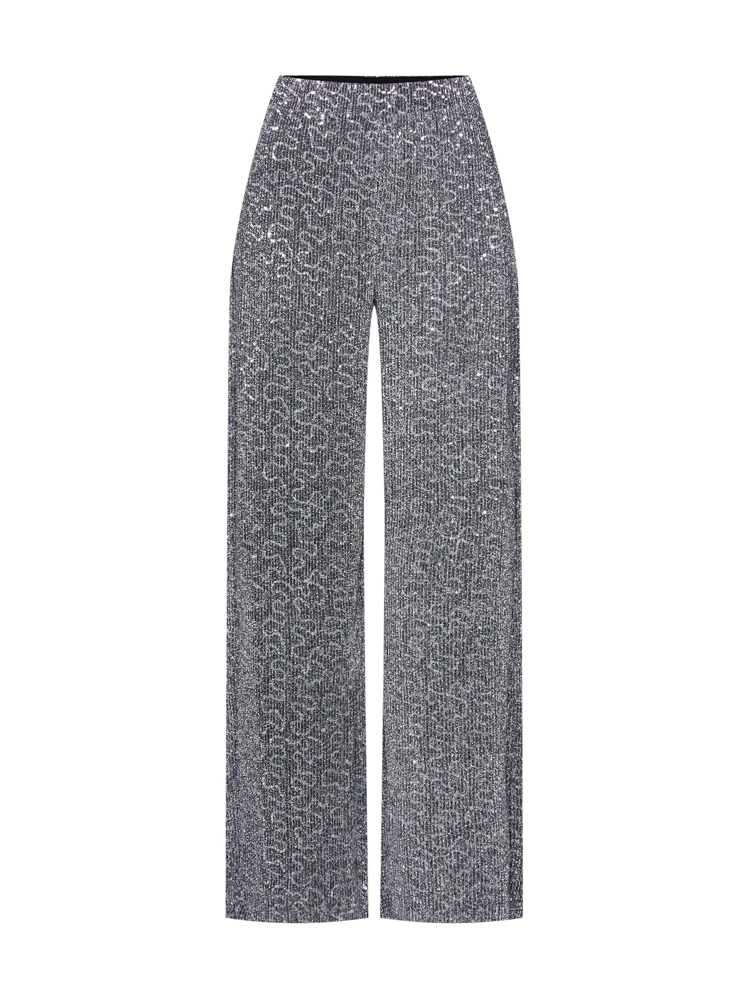 Kalhoty VILEZANA LOOSE PANTS stříbrná VILA