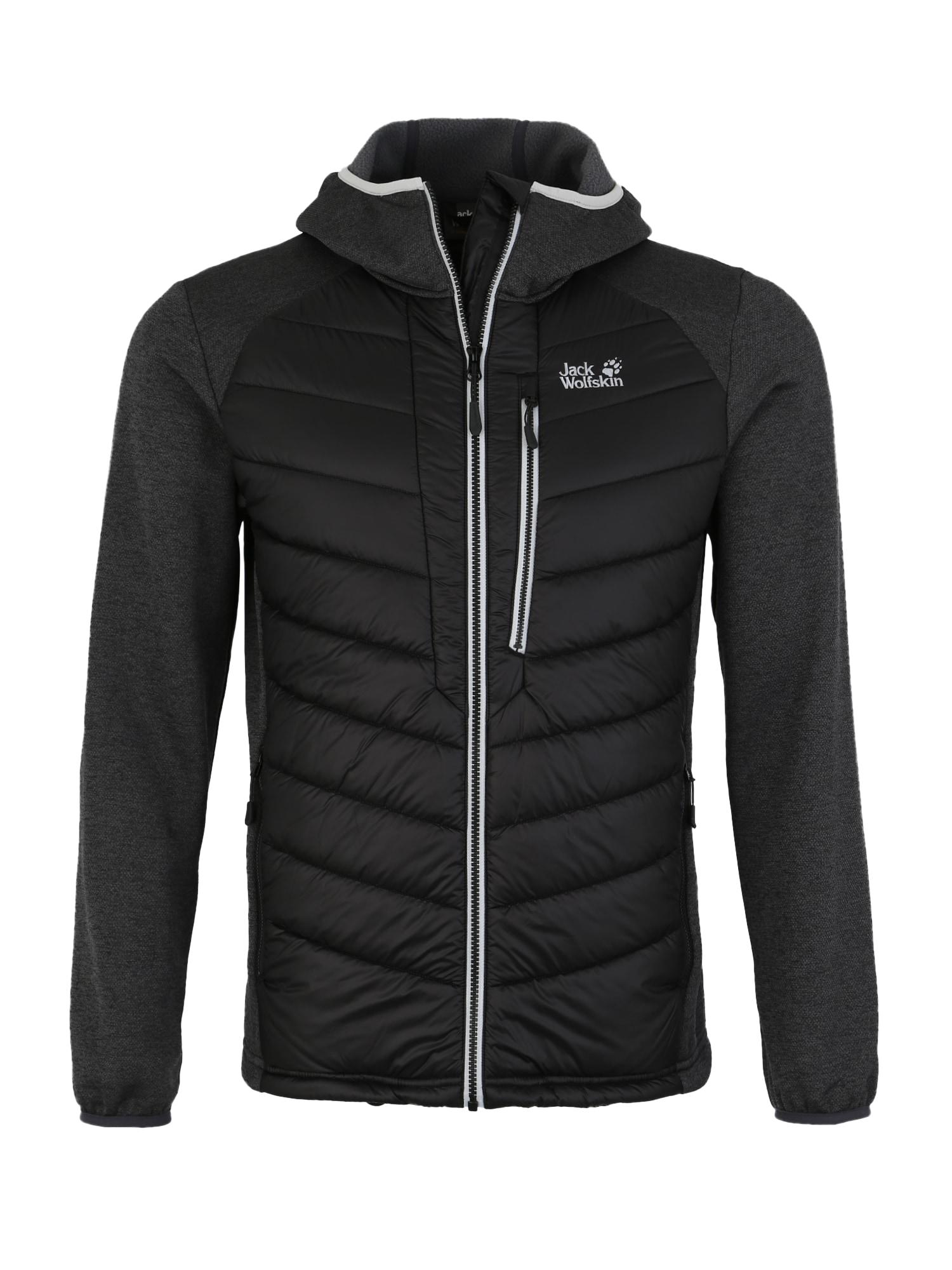 Sportovní bunda SKYLAND CROSSING světle šedá tmavě šedá černá JACK WOLFSKIN