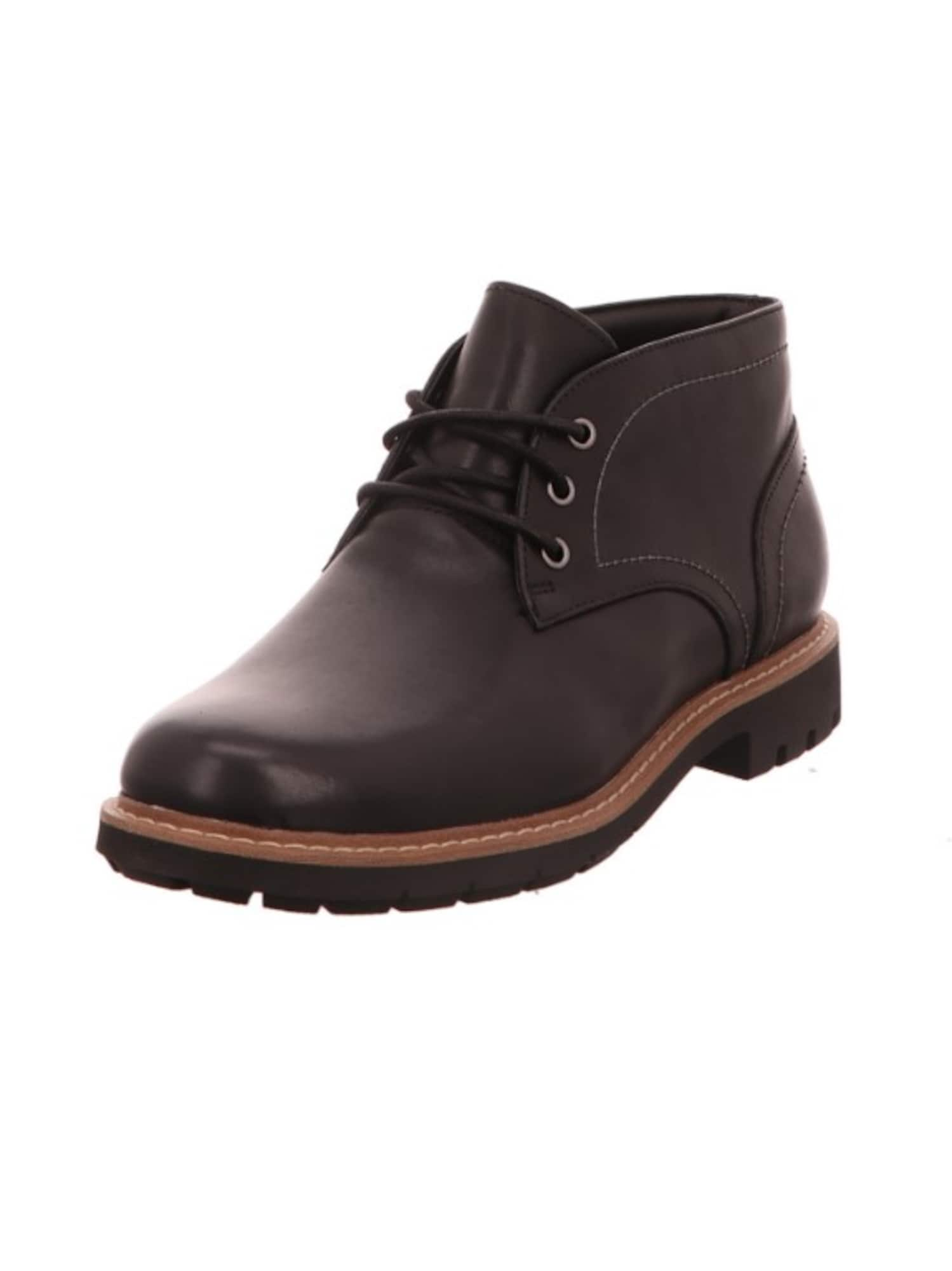 Šněrovací boty Batcombe černá CLARKS