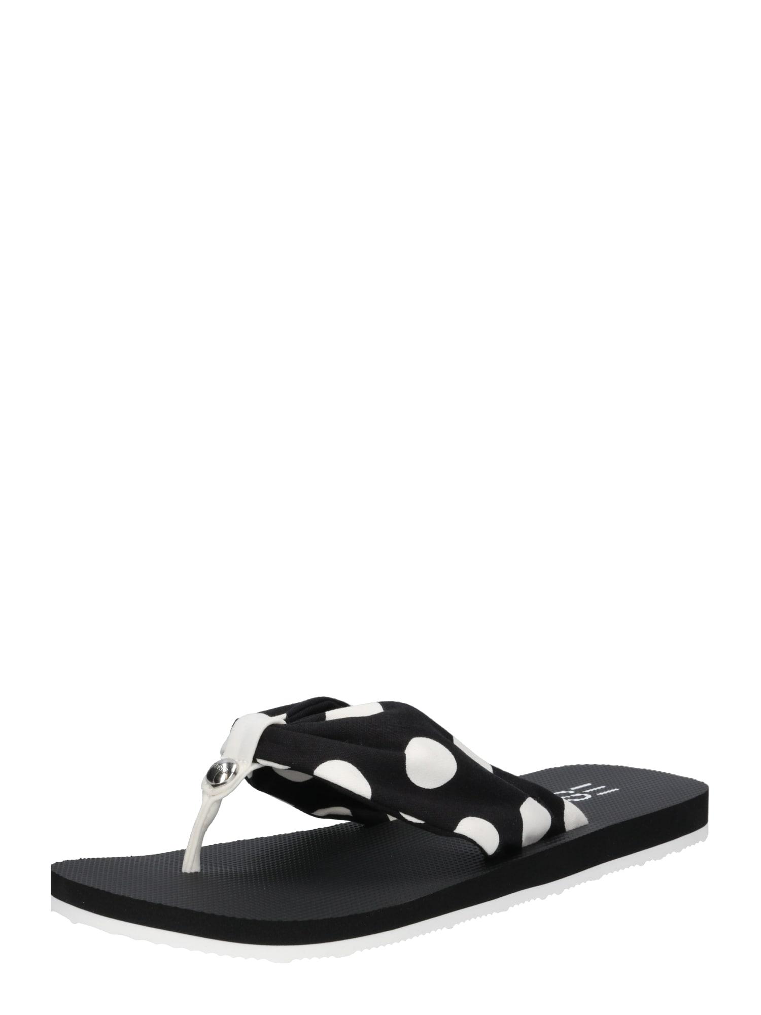 Pantofle Denise dot černá bílá ESPRIT