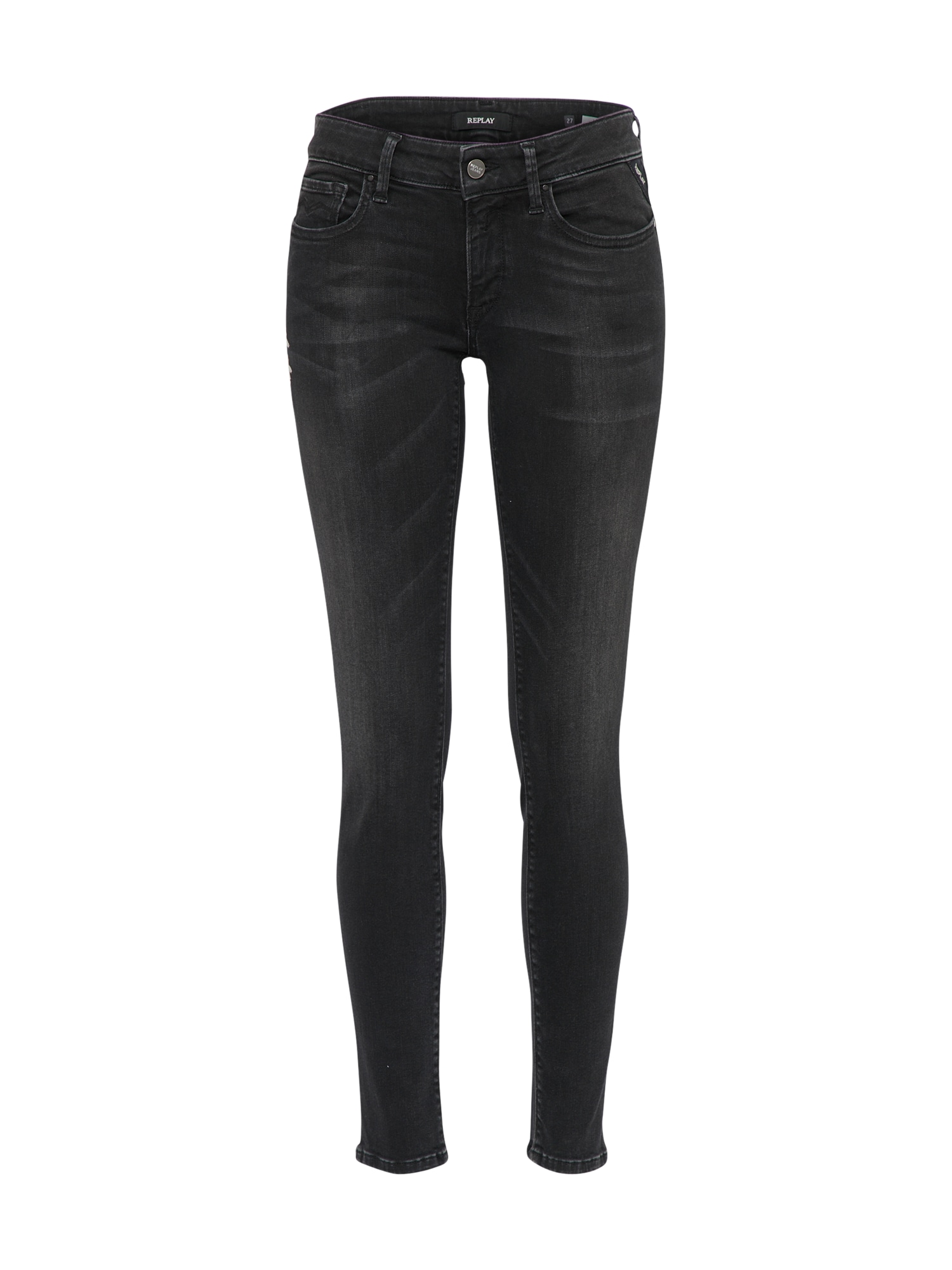 REPLAY Dames Jeans LUZ black denim
