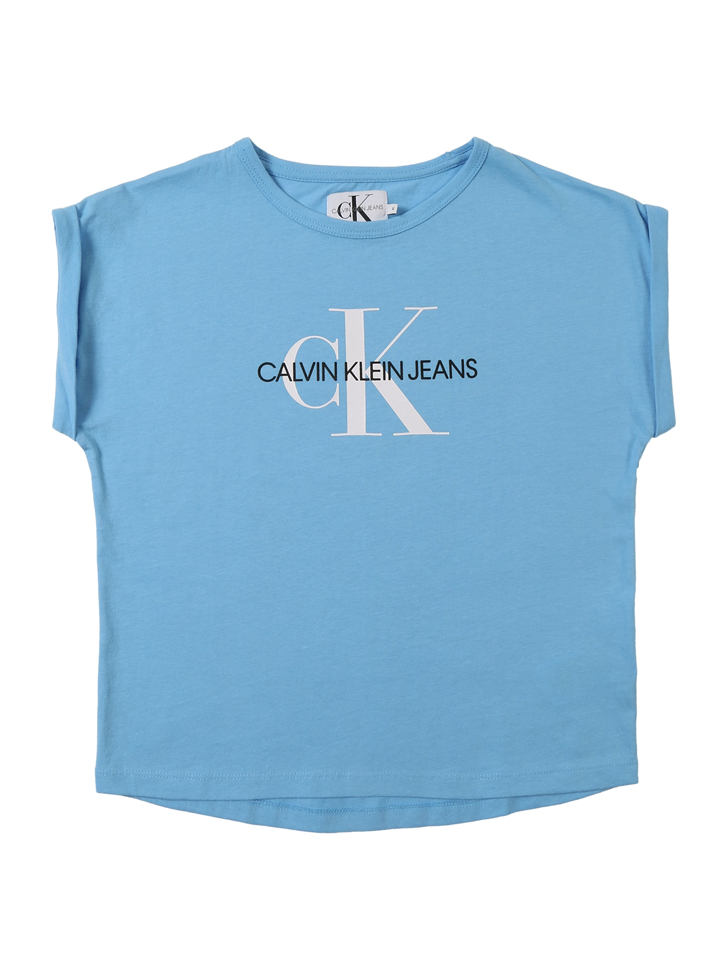 Top MONOGRAM LOOSE FIT TEE světlemodrá bílá Calvin Klein Jeans