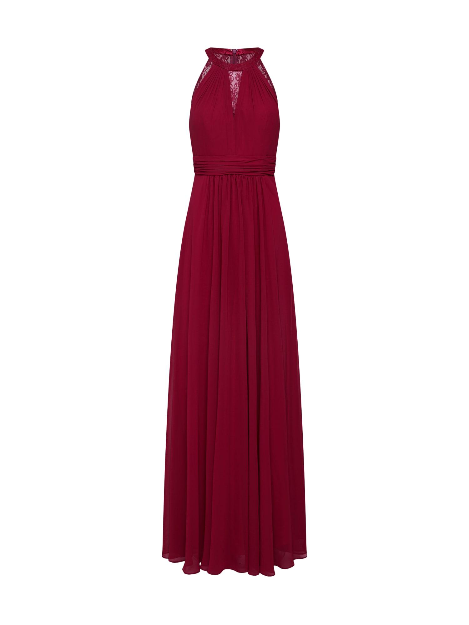 Společenské šaty LACE INSET vínově červená Mascara