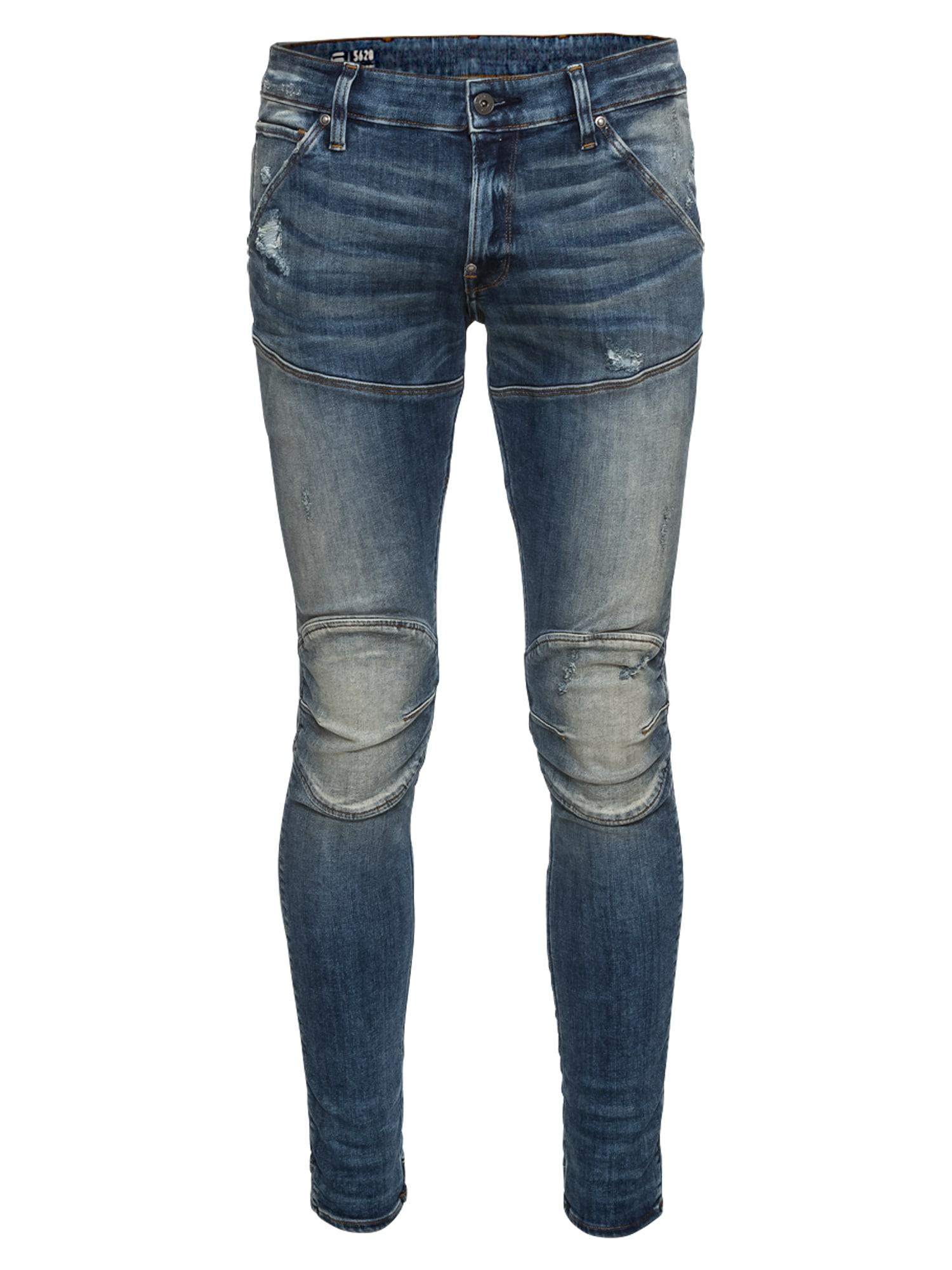 G-STAR RAW Heren Jeans Elwood Super-Slim blauw denim