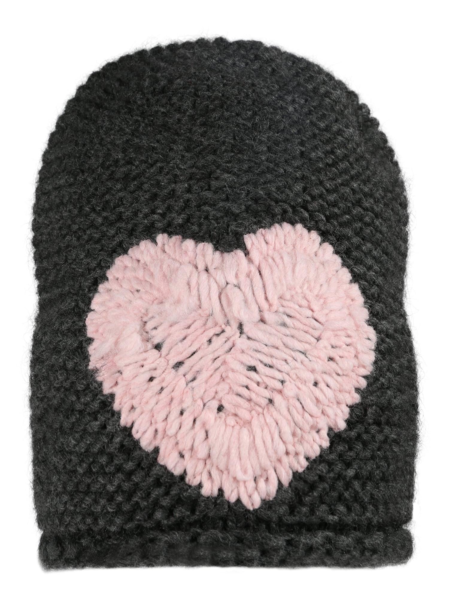 Čepice Heart antracitová Zwillingsherz