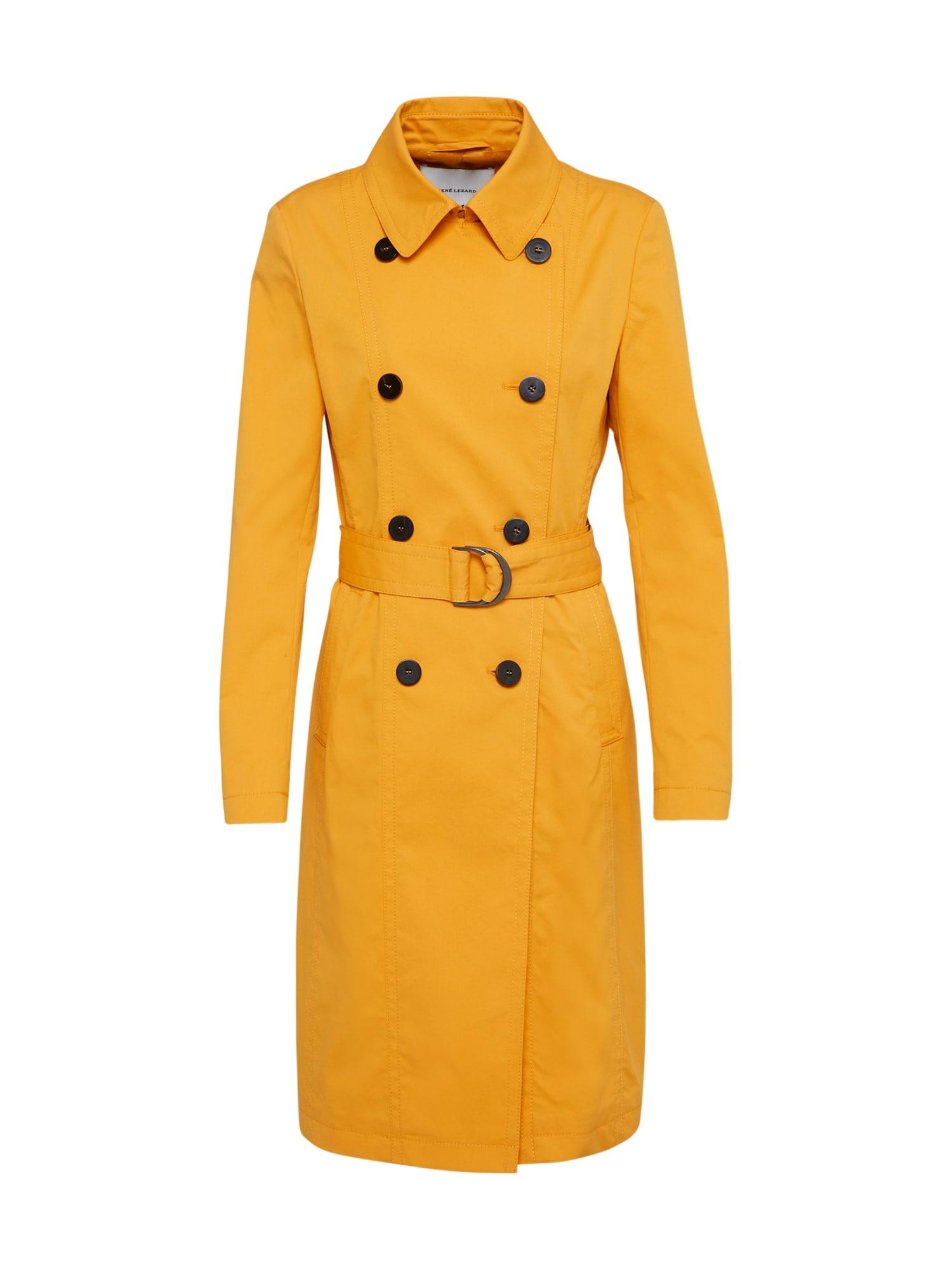 Přechodný kabát M013S zlatě žlutá RENÉ LEZARD