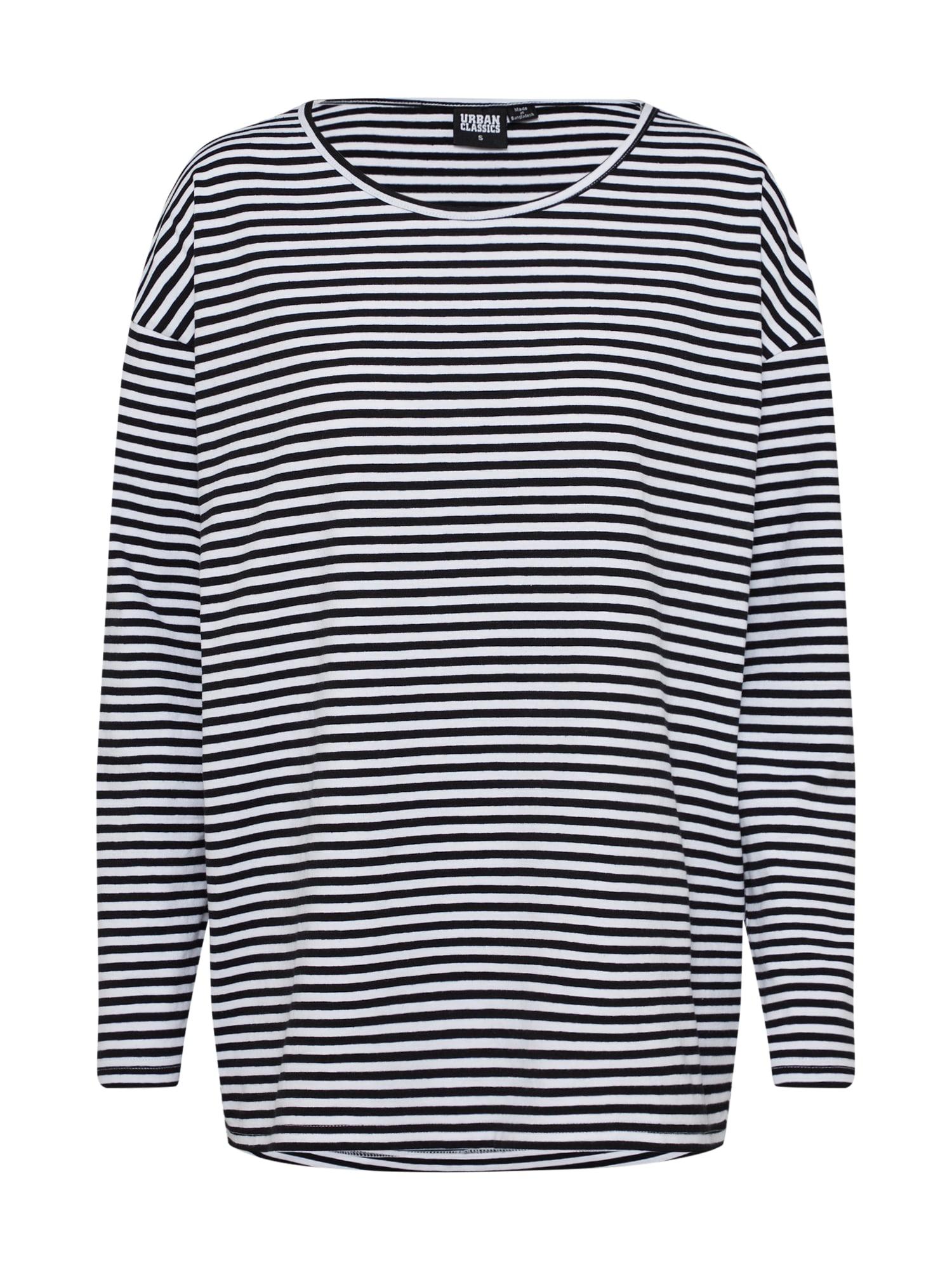 Oversized tričko černá bílá Urban Classics