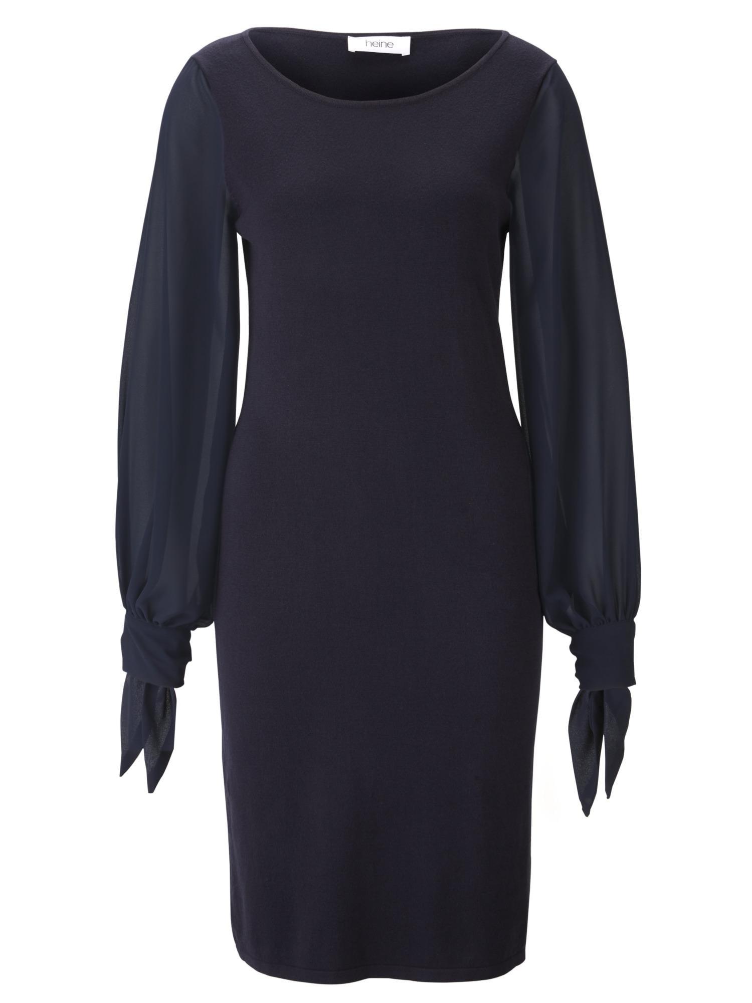 Úpletové šaty noční modrá Heine