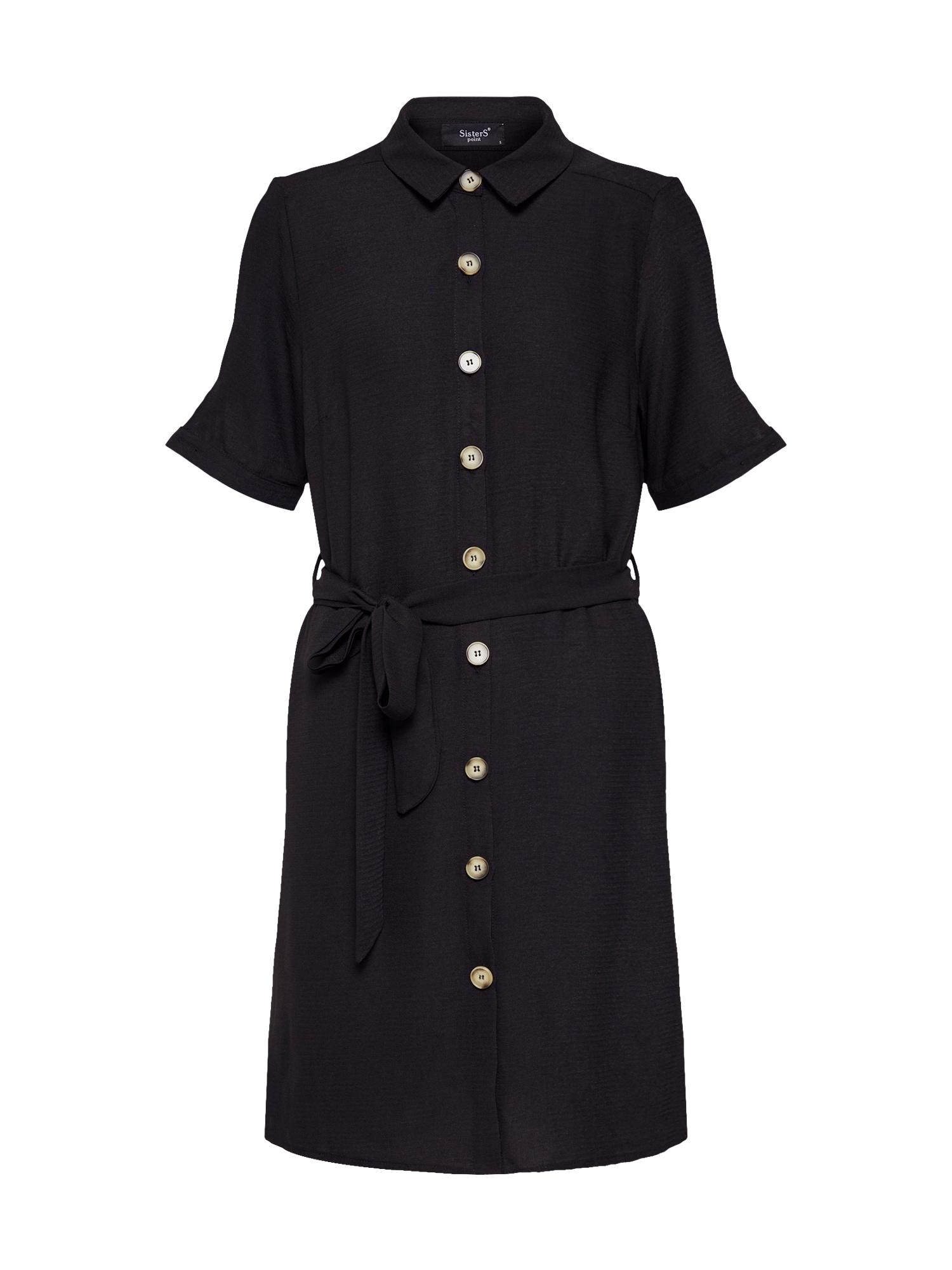Košilové šaty EROB-SS.A černá SISTERS POINT