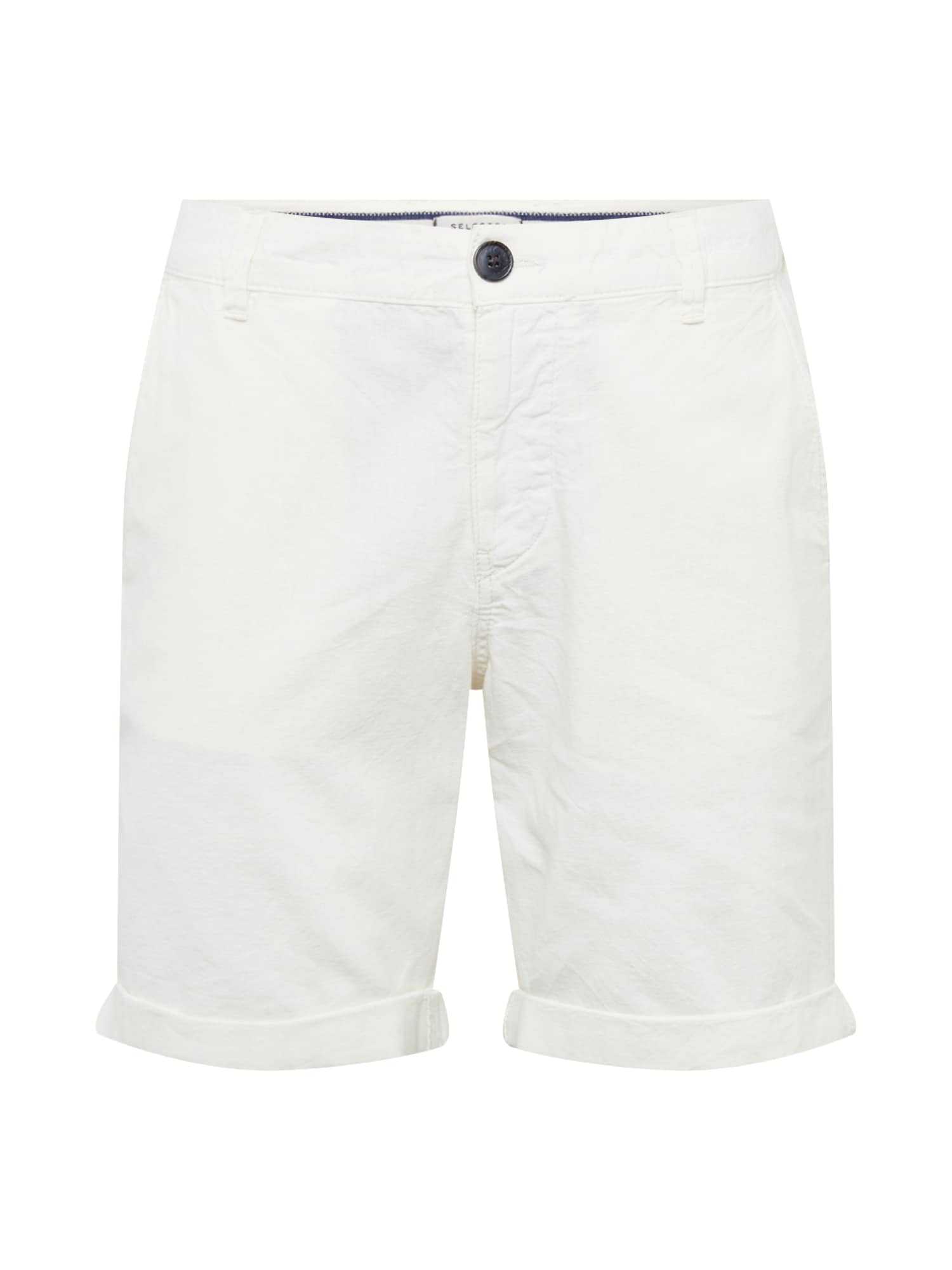 Chino kalhoty SLHStraight-Paris W offwhite SELECTED HOMME