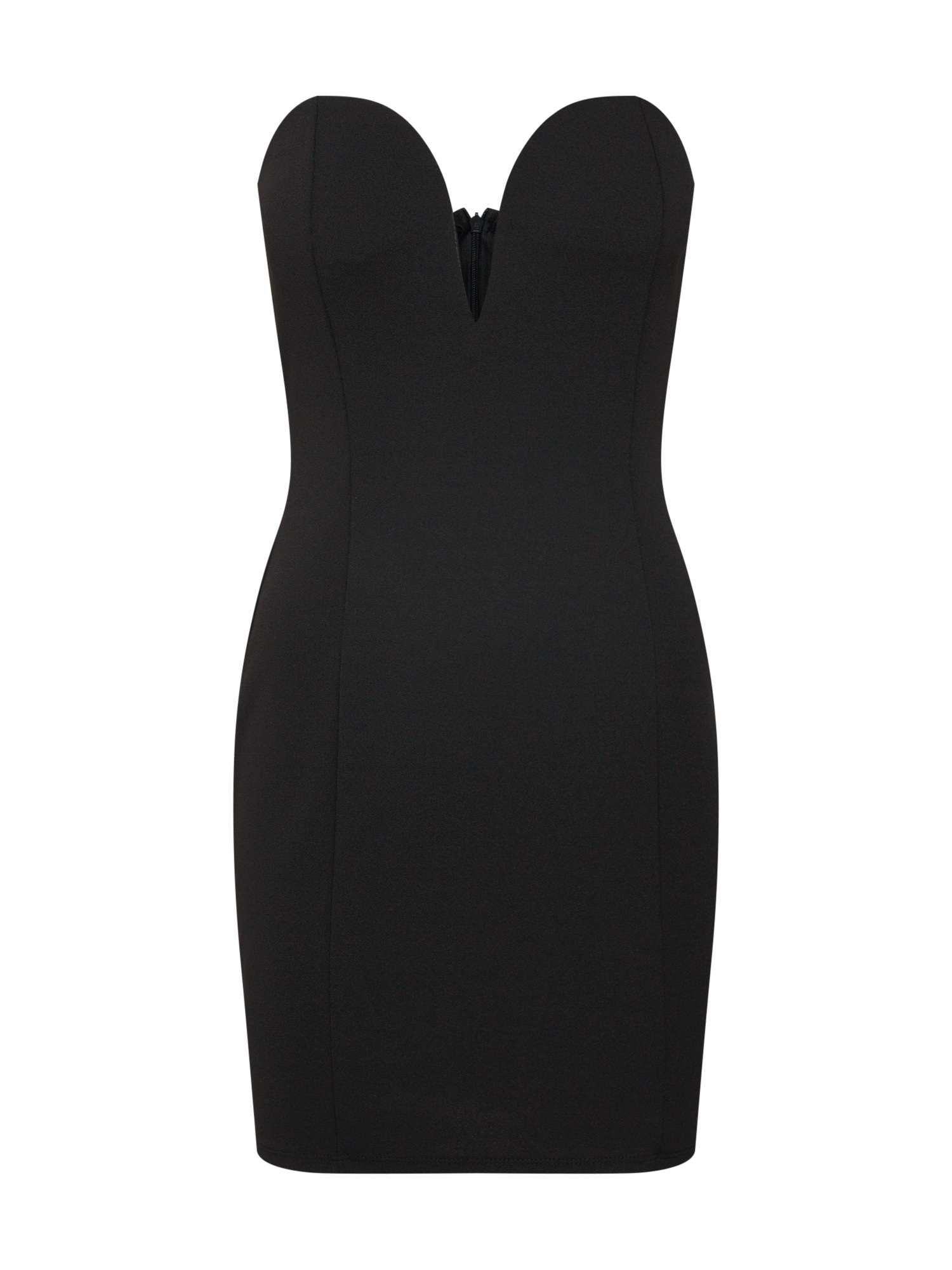 Koktejlové šaty Strapless černá Boohoo