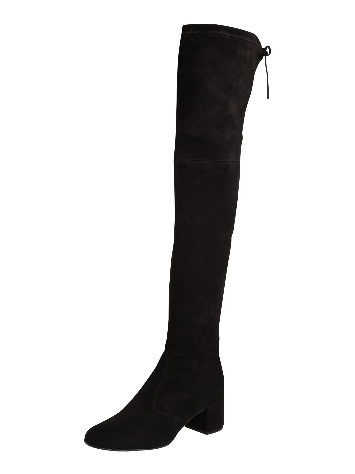 Hgl, Dames Overknee laarzen, zwart