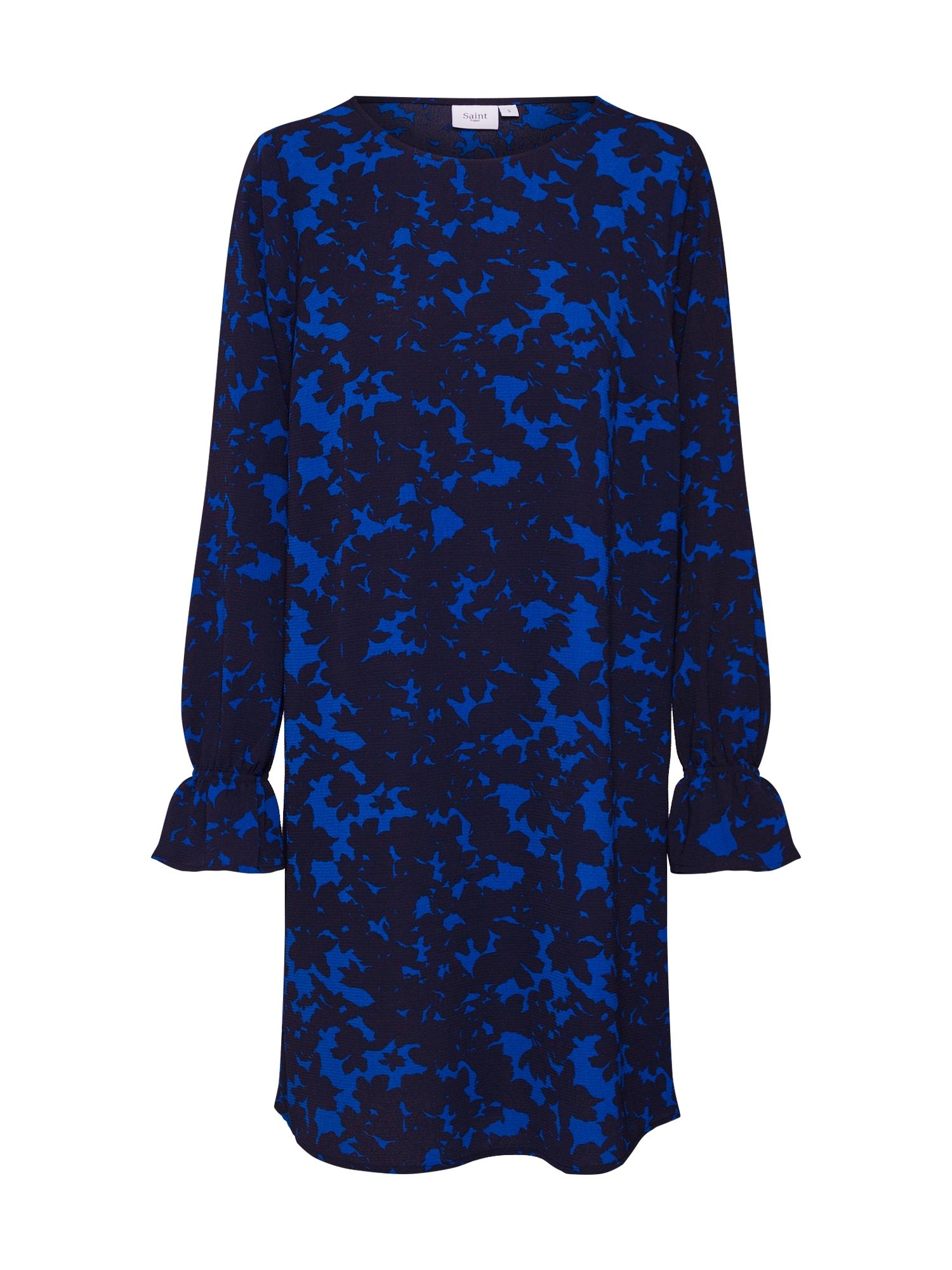 Šaty XRAY FLORALS P kobaltová modř černá SAINT TROPEZ
